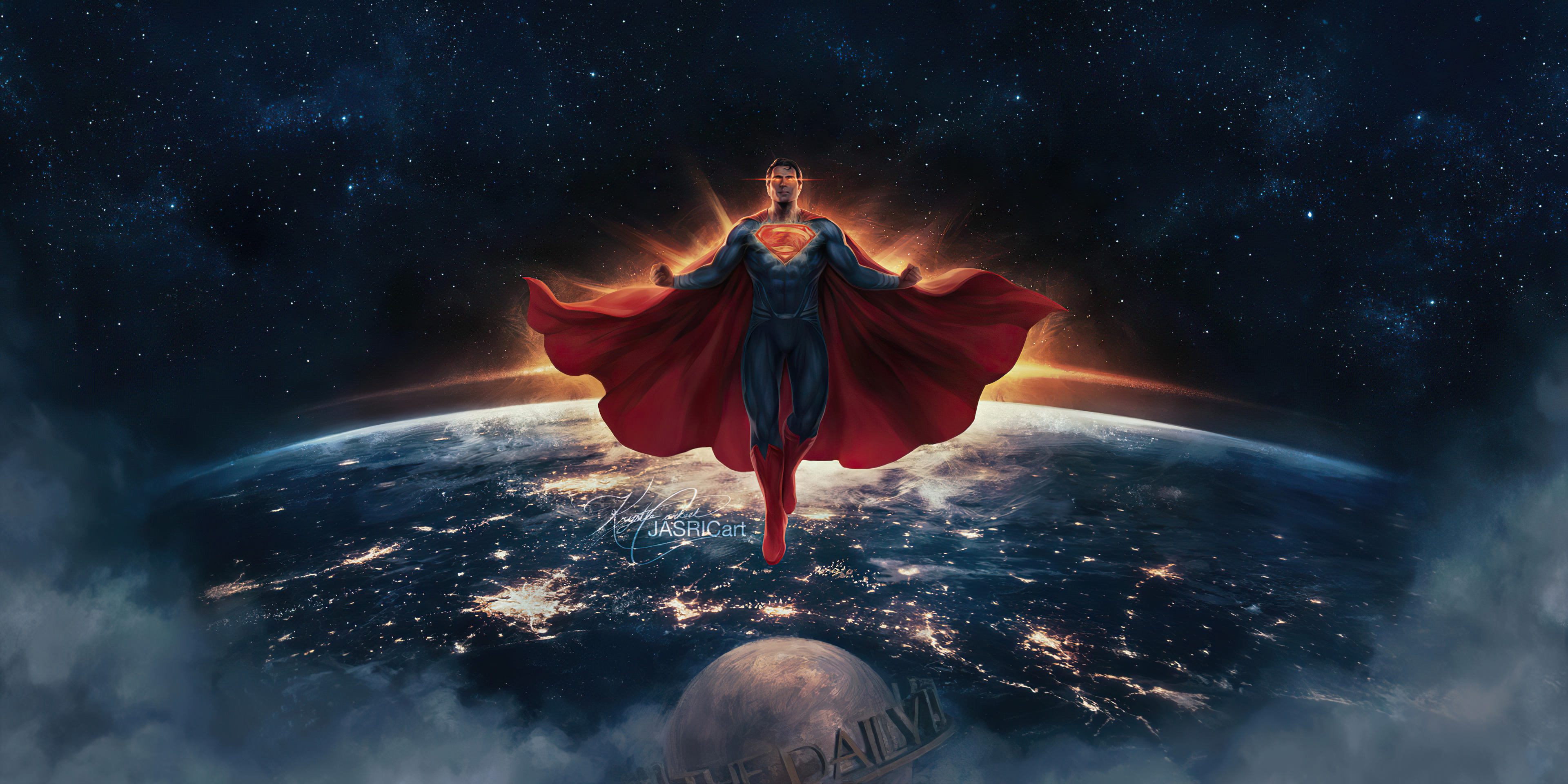 Wallpaper Superman classic suit Justice League