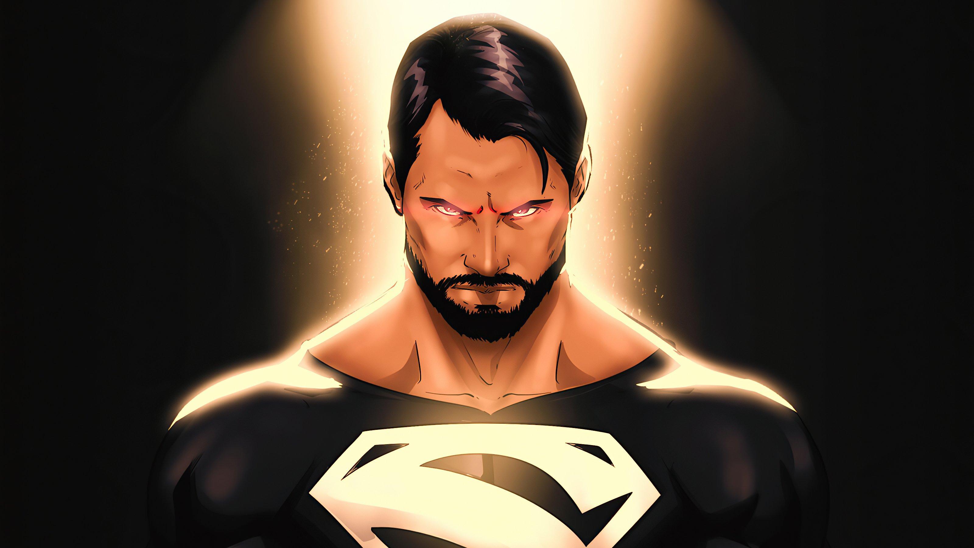 Wallpaper Superman with black suit