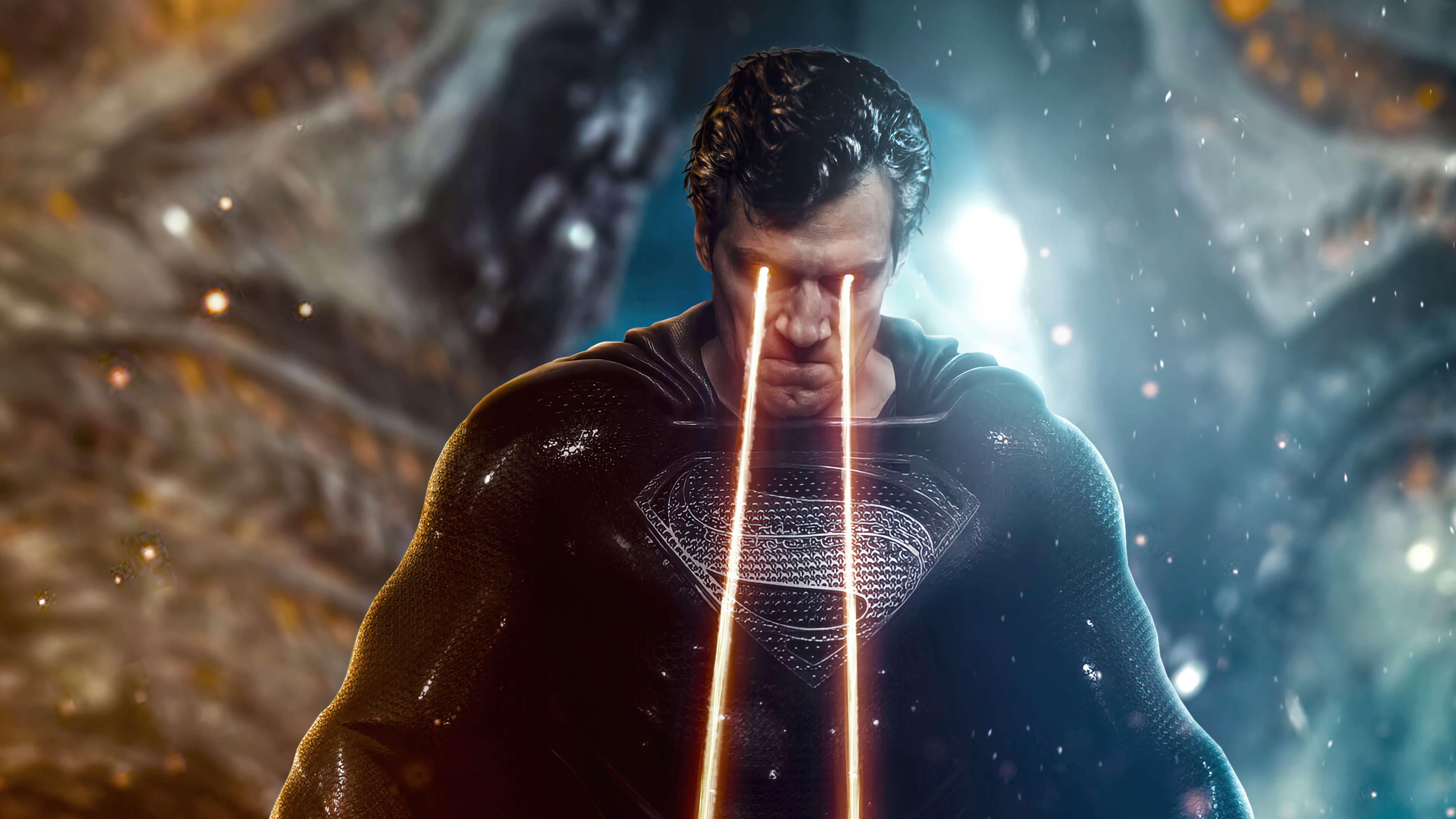 Wallpaper Superman with heat vision