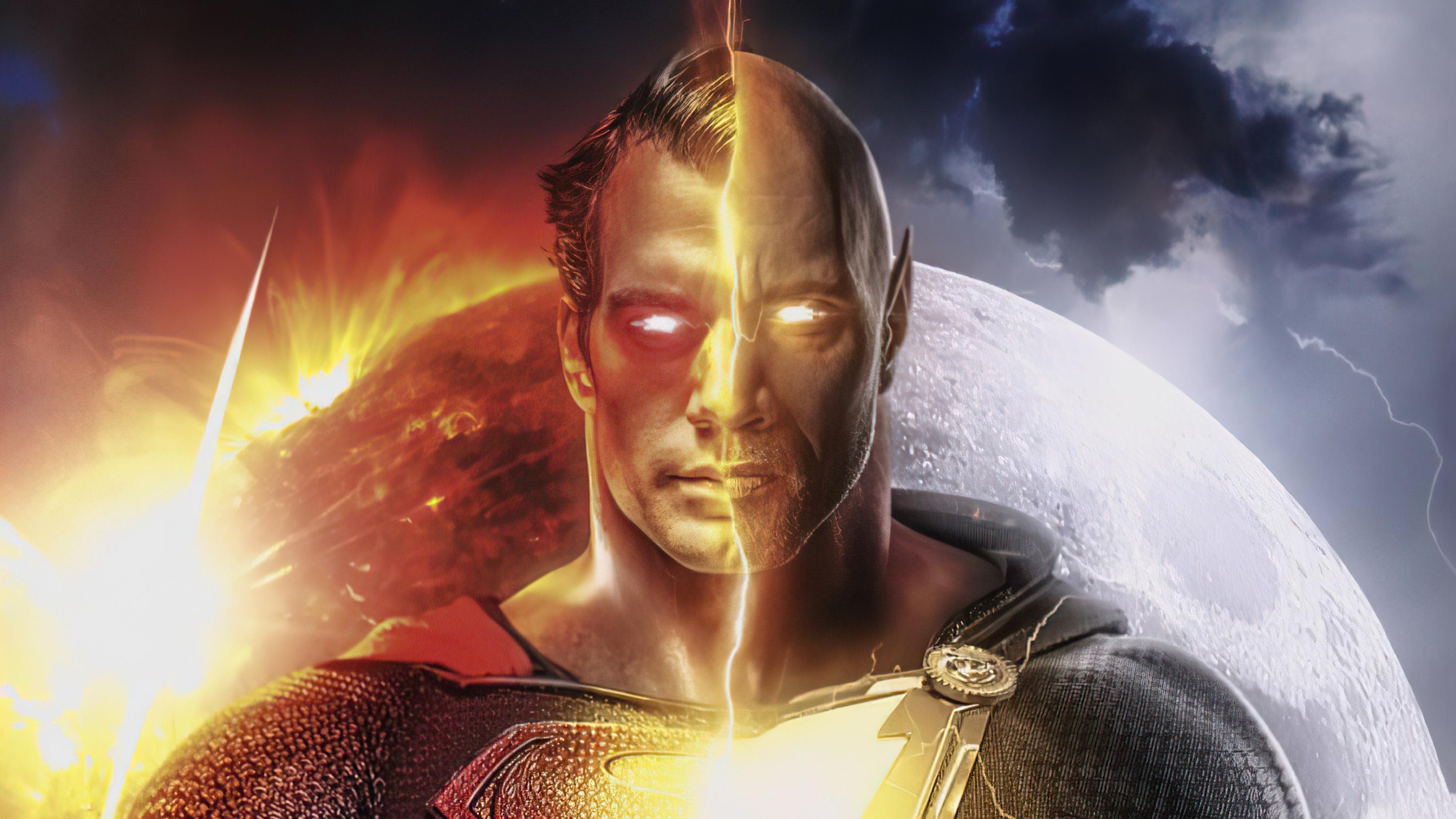 Wallpaper Superman contra Black Adam
