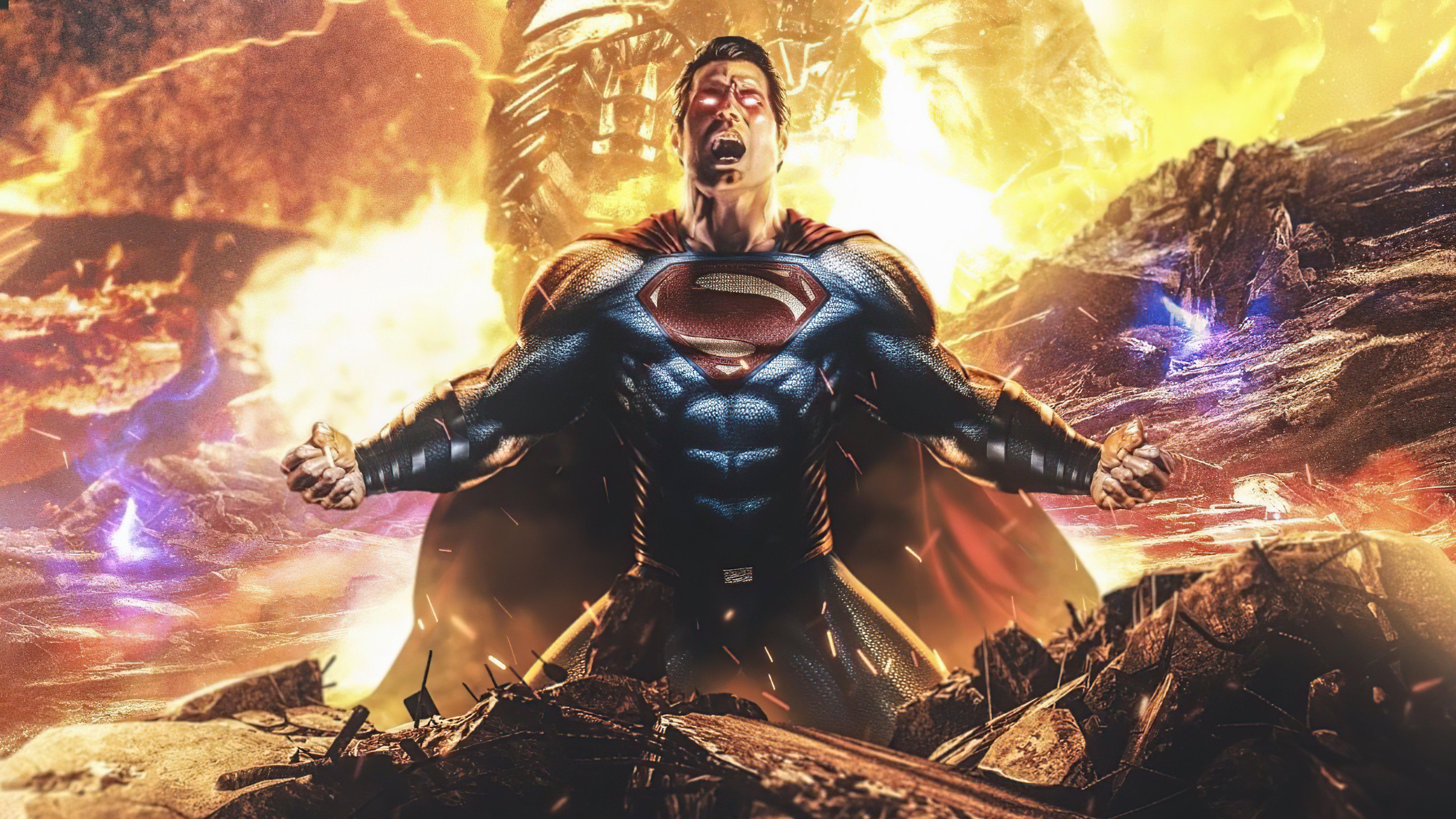 Fondos de pantalla Superman contra Darkseid Snyder Liga de la Justicia