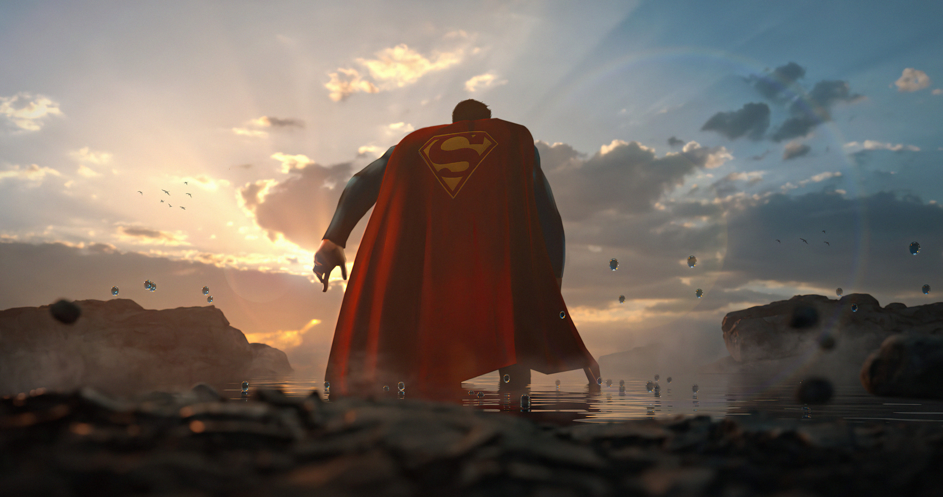 Wallpaper Superman from the back