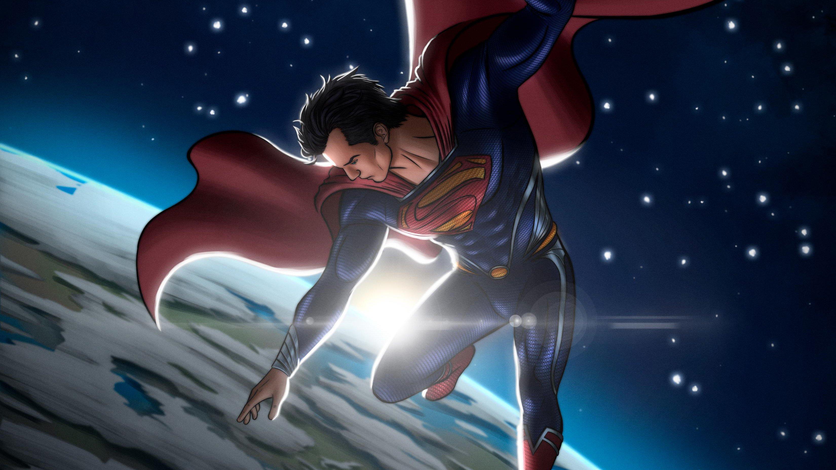 Fondos de pantalla Superman en el espacio