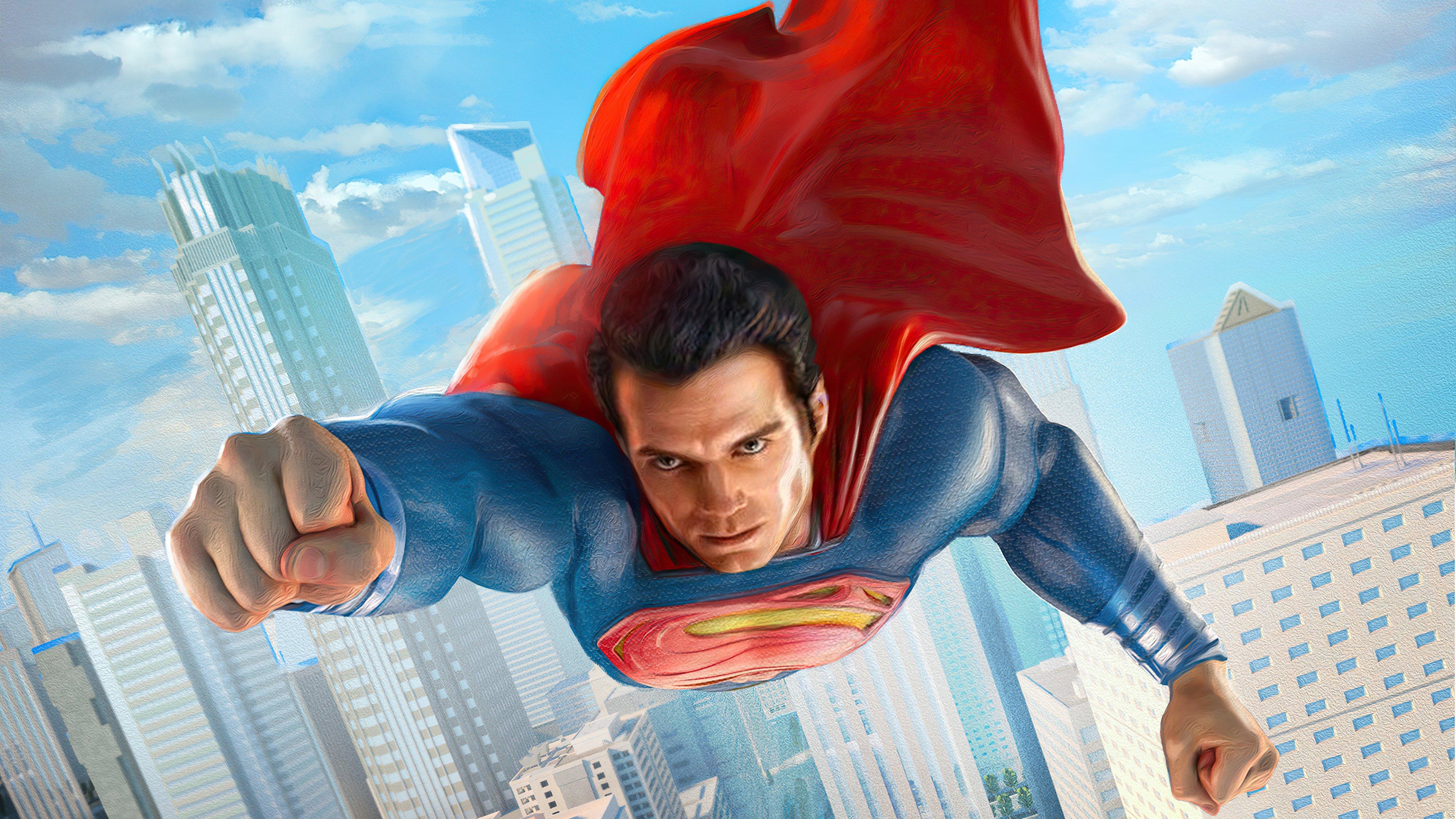 Fondos de pantalla Superman en la ciudad