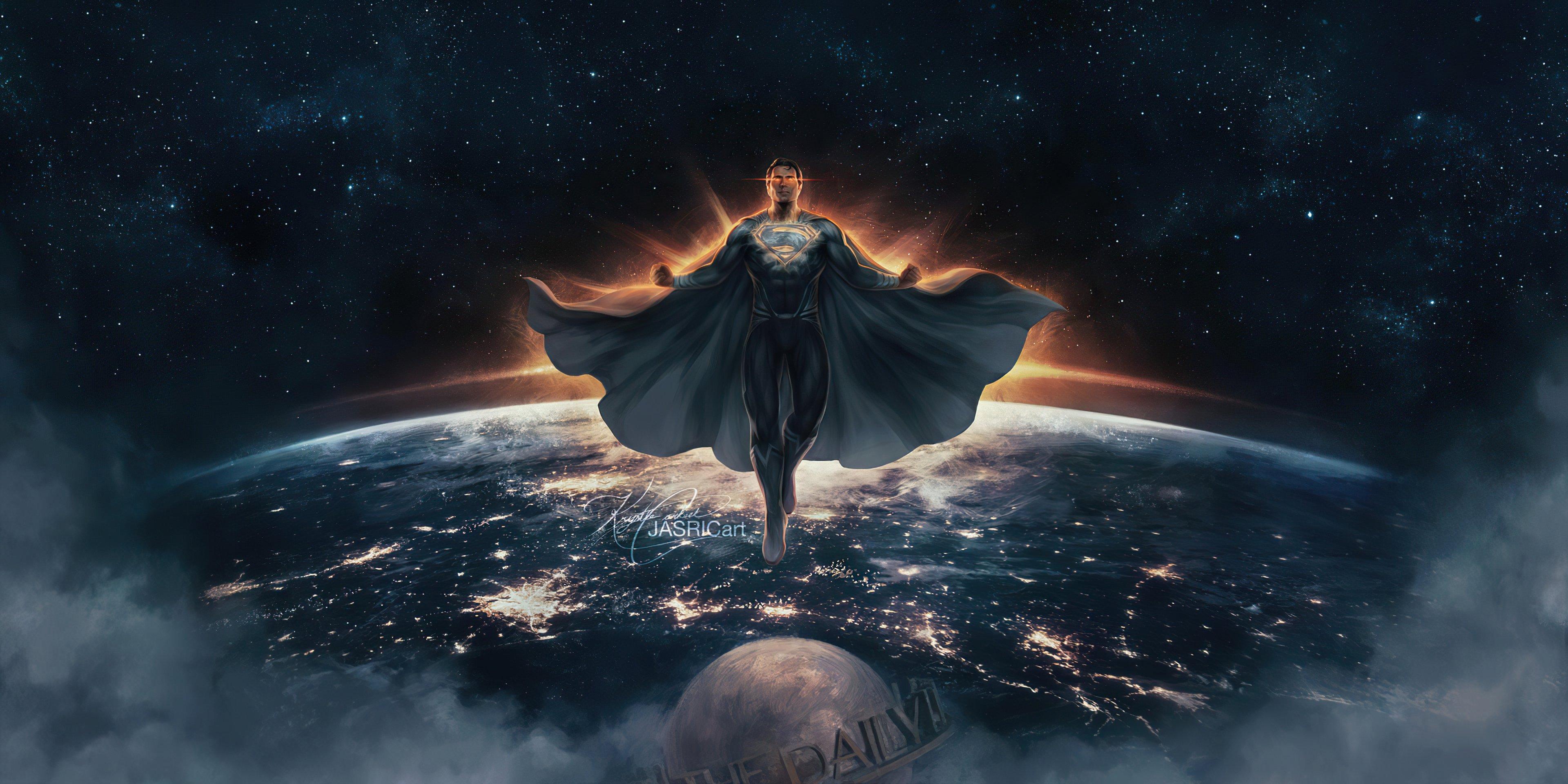 Wallpaper Superman black suit Justice League Zack Snyder