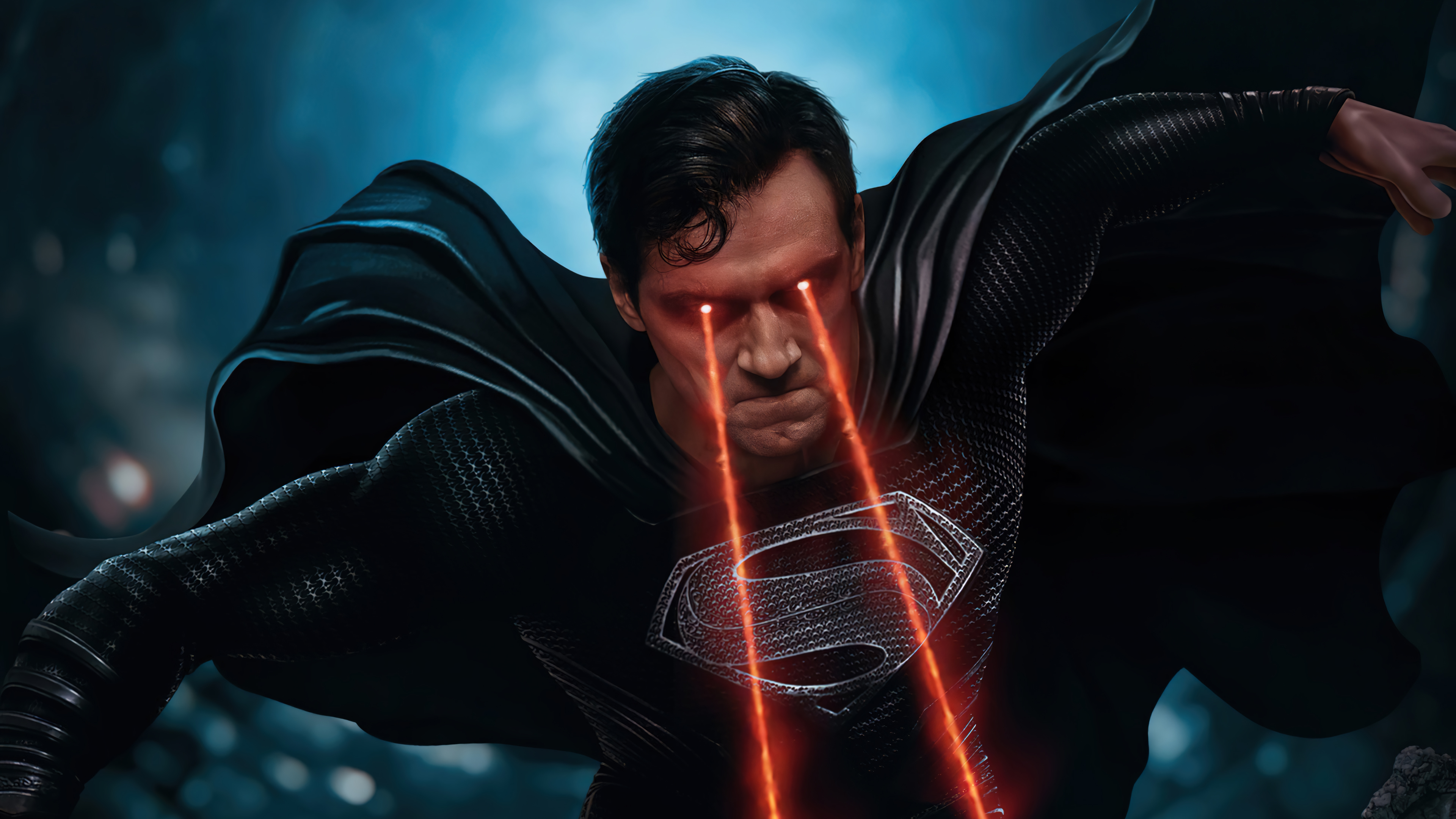 Fondos de pantalla Superman traje negro Liga de la justicia Snyder cut
