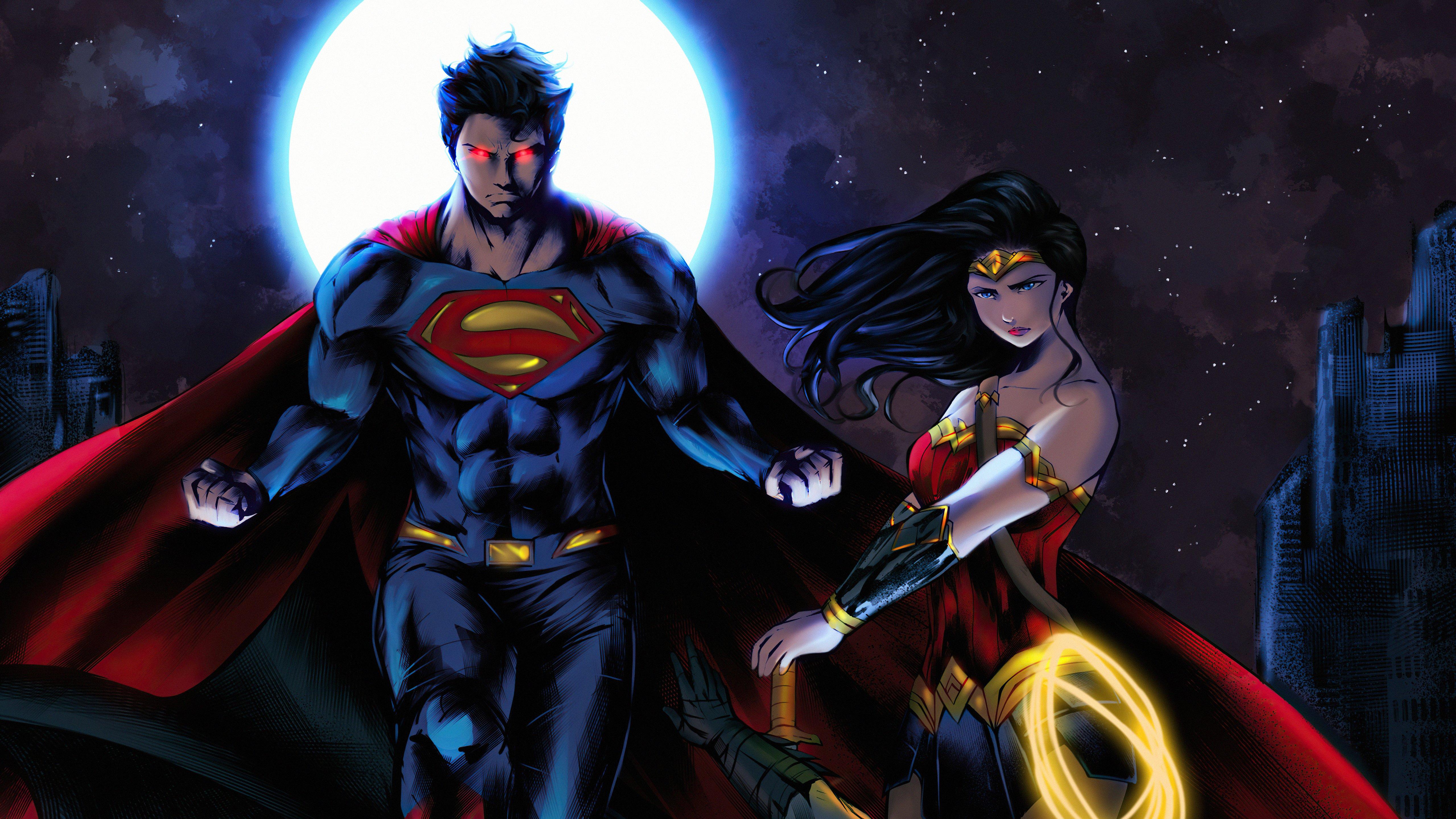 Fondos de pantalla Superman y la mujer maravilla Fanart