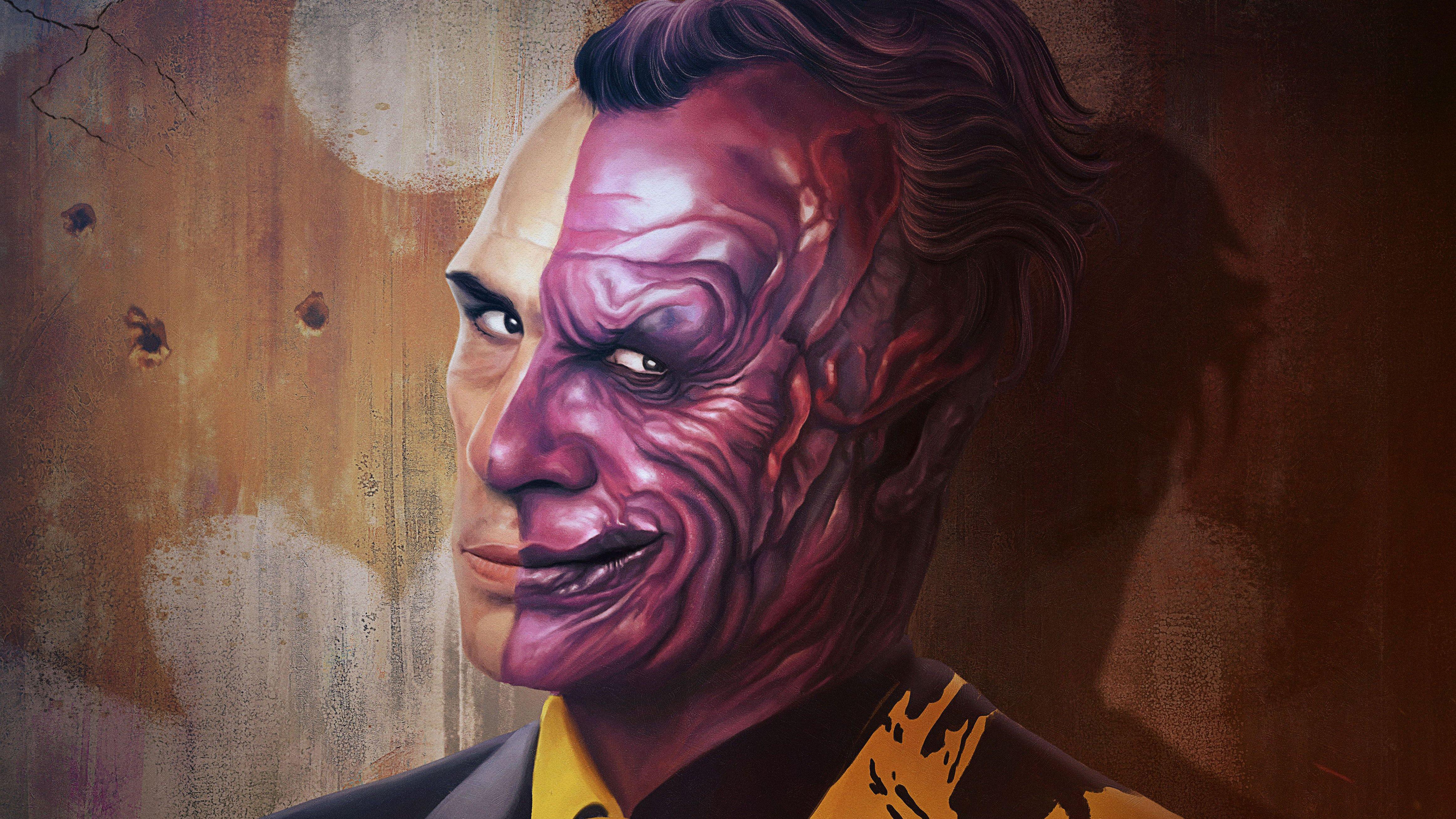 Wallpaper Supervillain Two Face