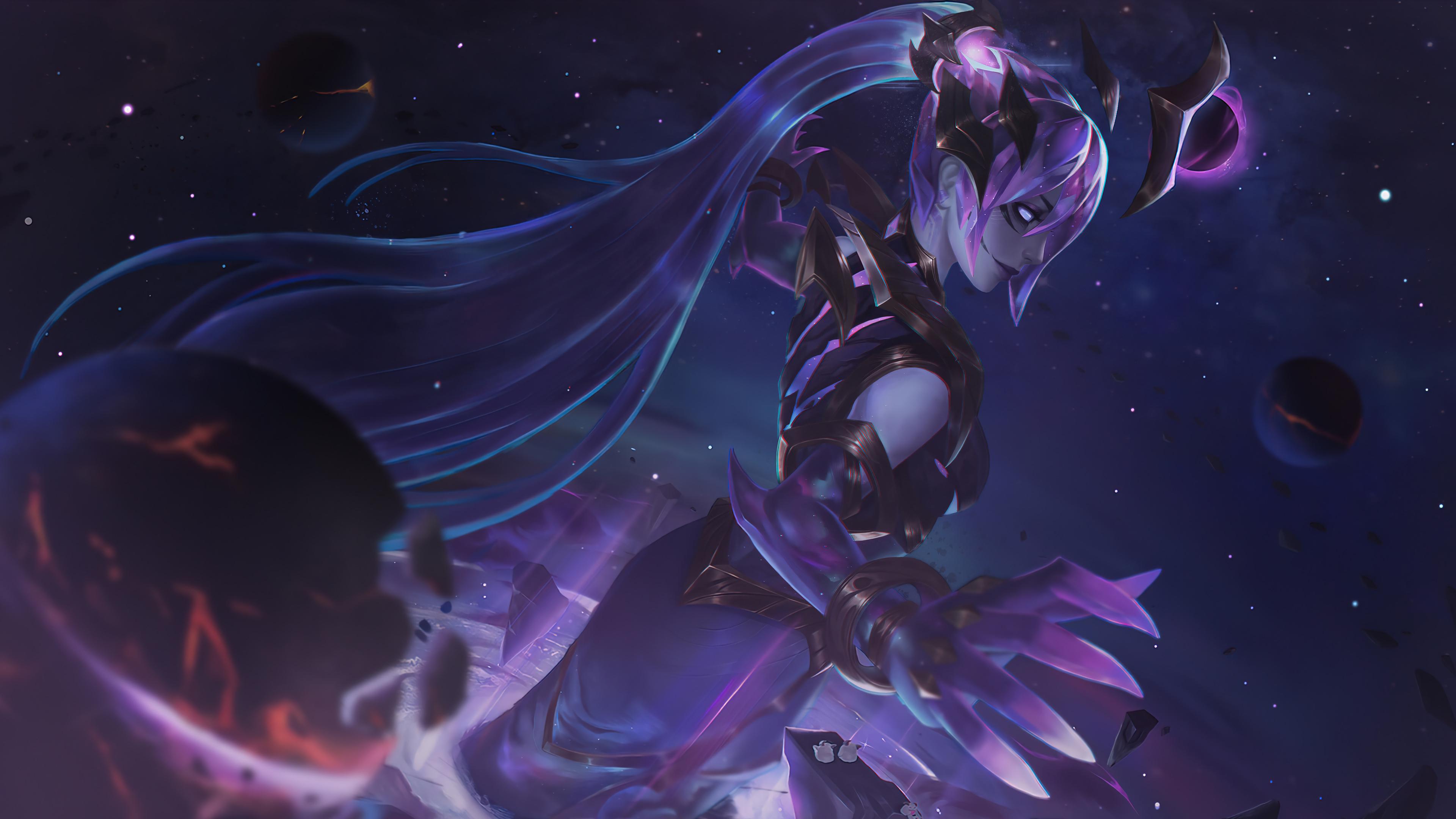 Wallpaper Syndra Dark Star League of Legends