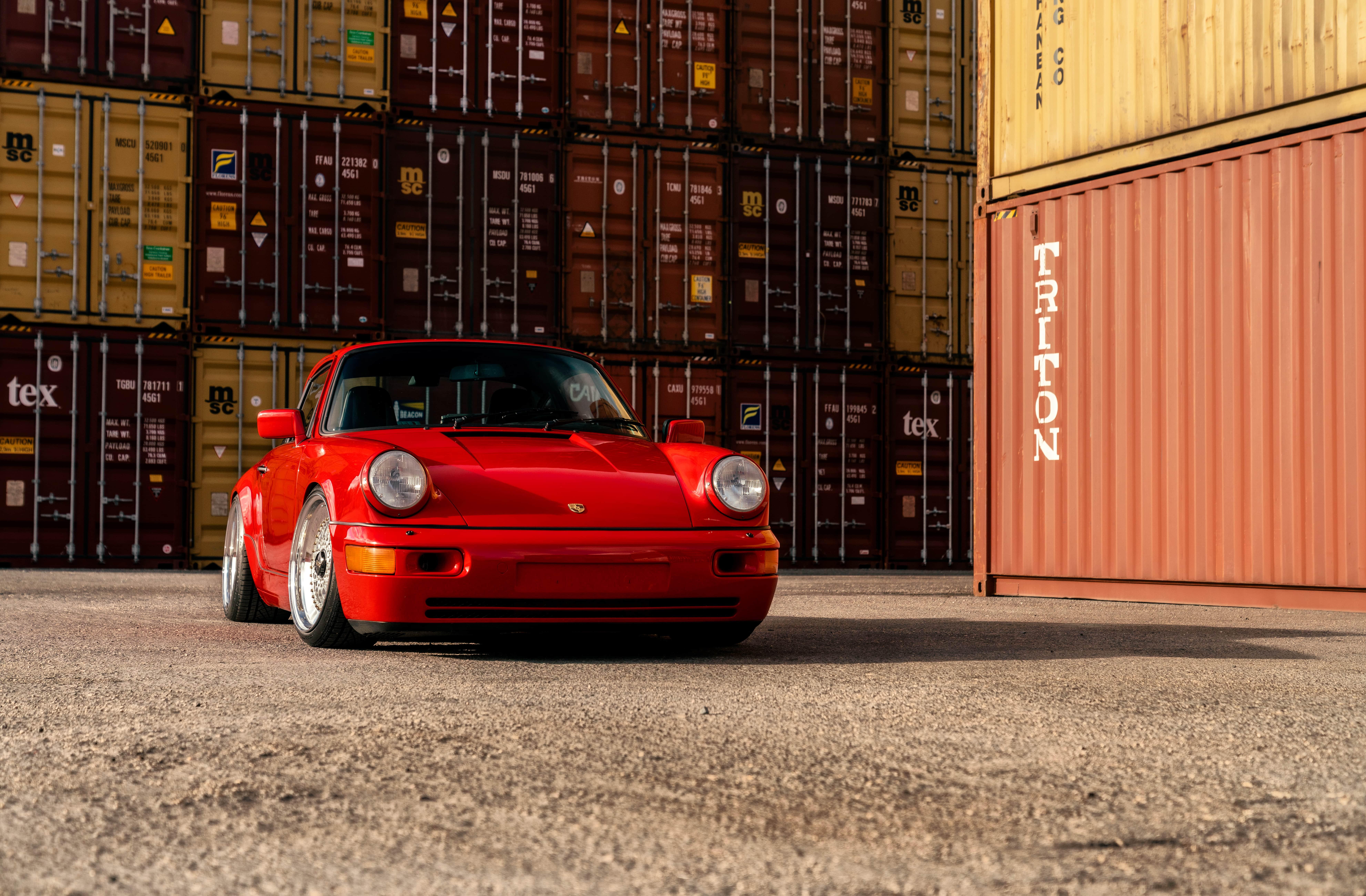 Wallpaper Taco Red Porsche