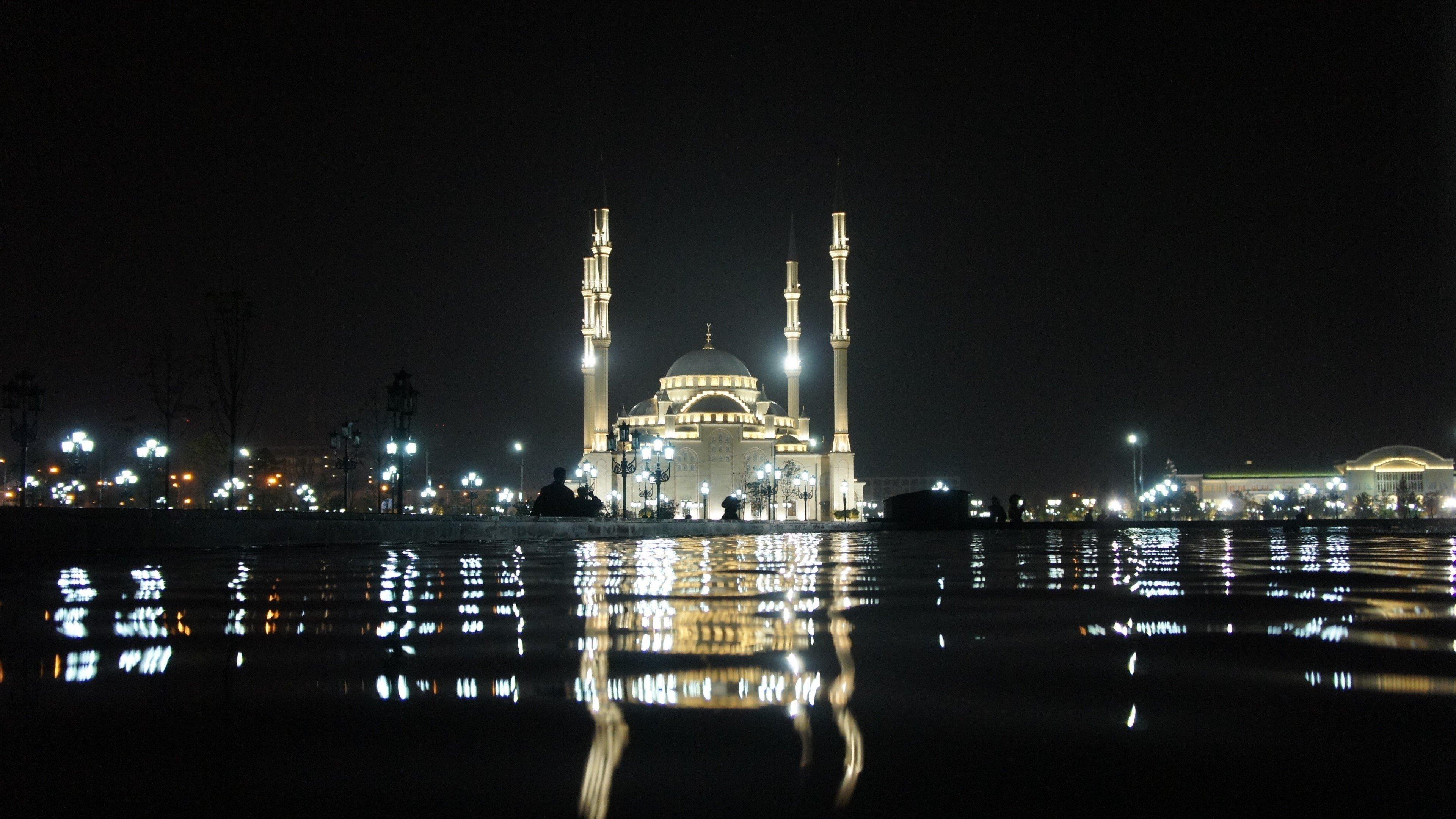 Fondo de pantalla de Taj Mahal de noche Imágenes