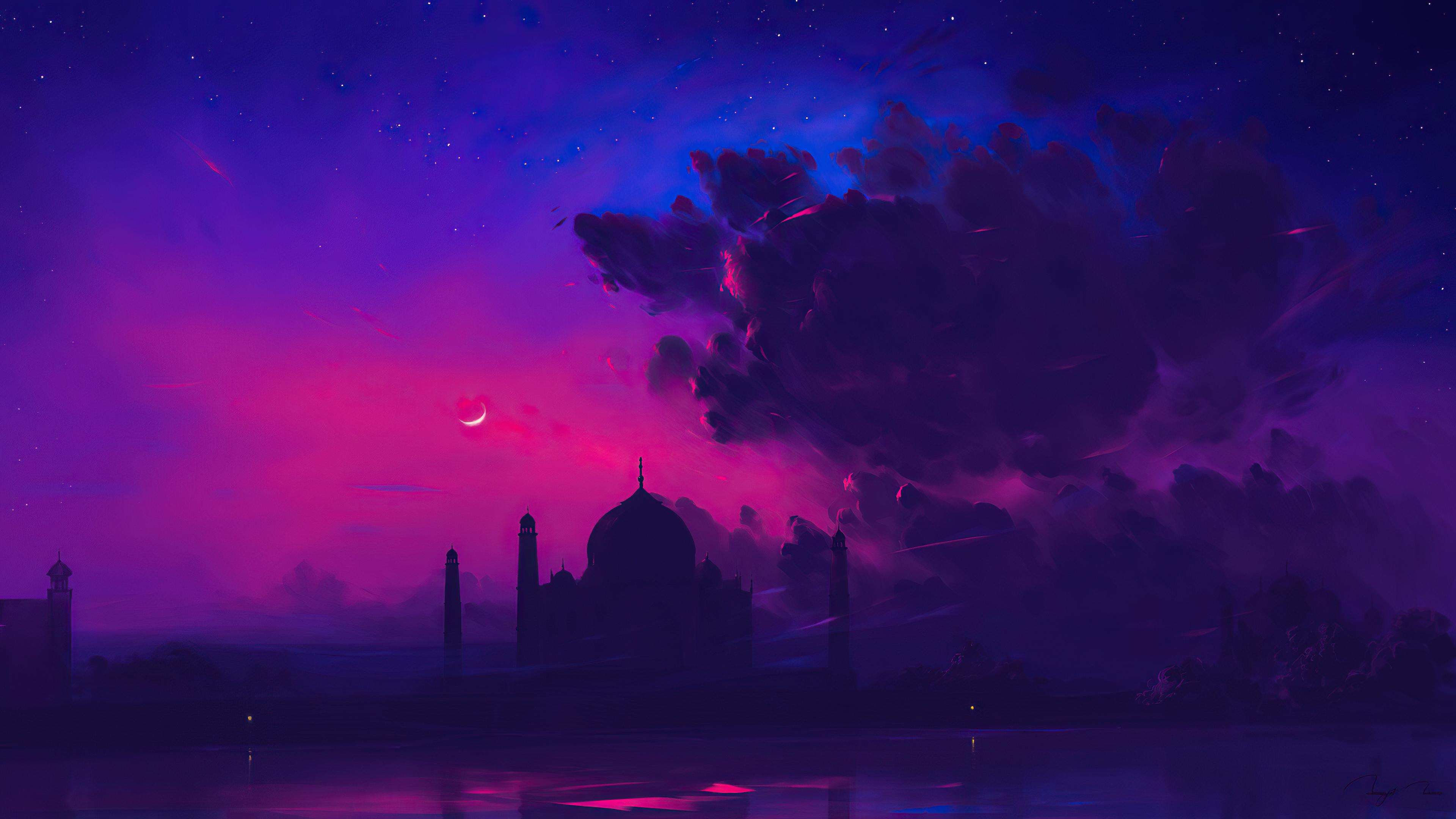 Fondos de pantalla Taj Mahal estilo minimalista