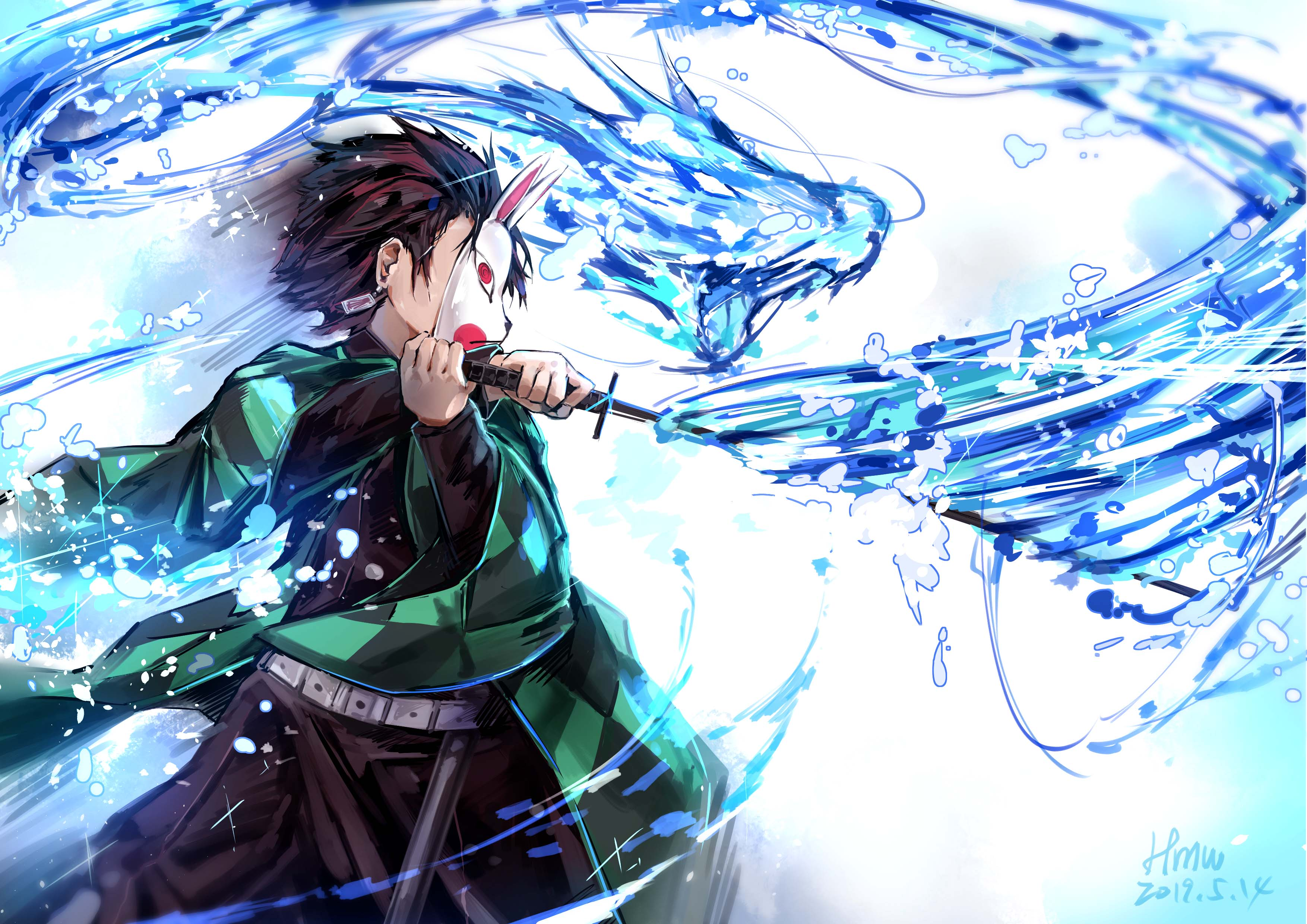 Fondos de pantalla Anime Tanjirou Kamado personaje de Los Guardianes de la Noche