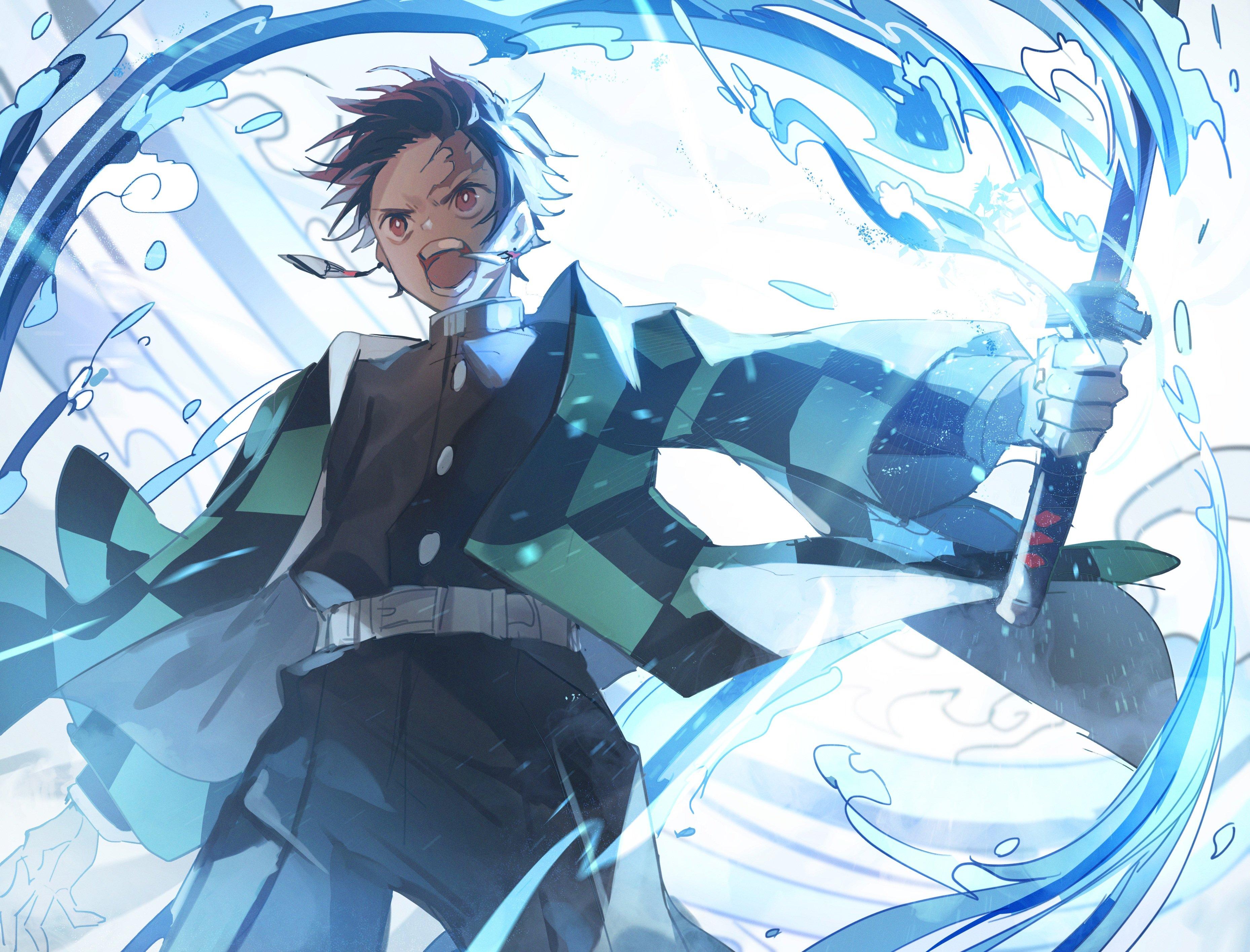 Fondos de pantalla Anime Tanjirou Kamado personaje Guardianes de la Noche