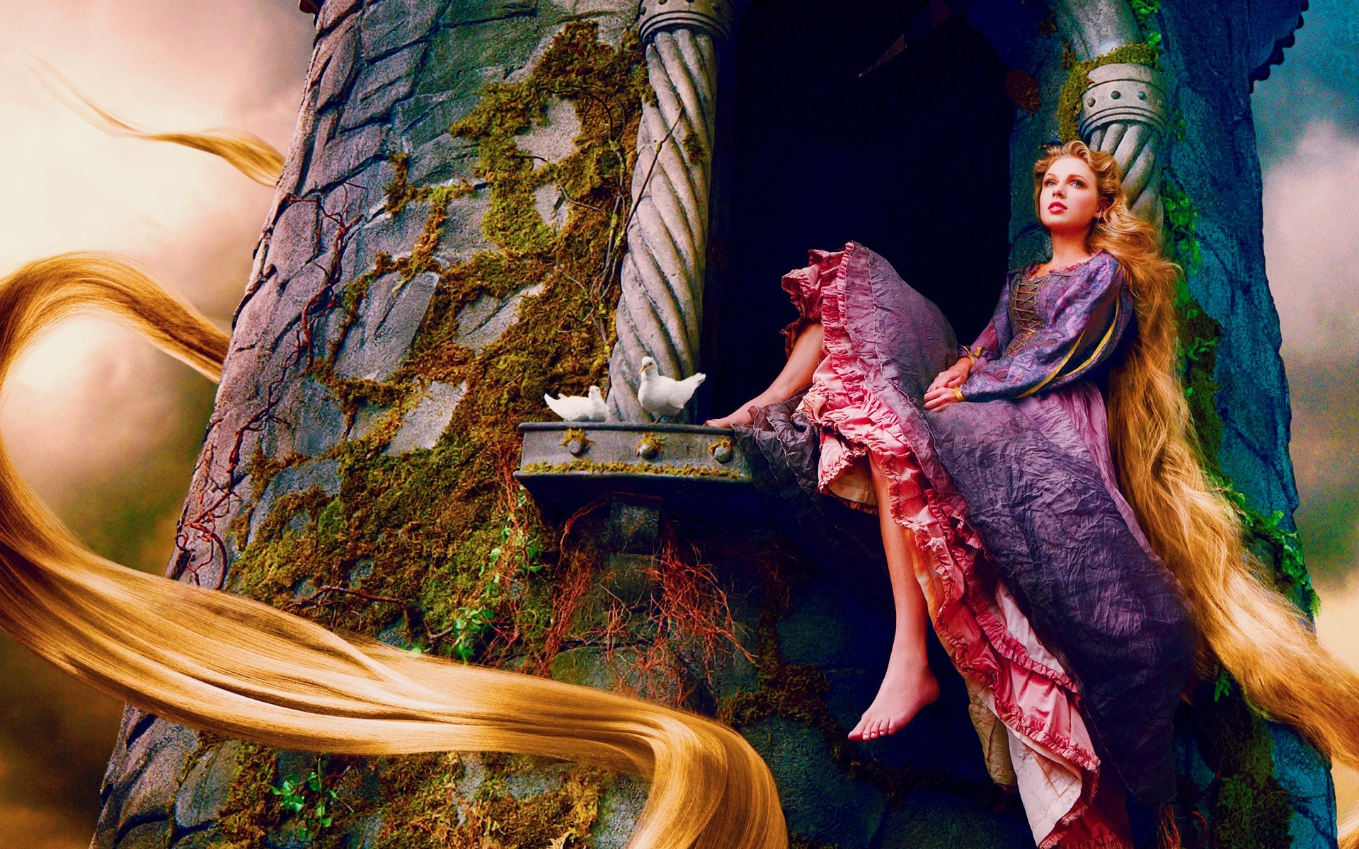 Wallpaper Taylor swift as Rapunzel