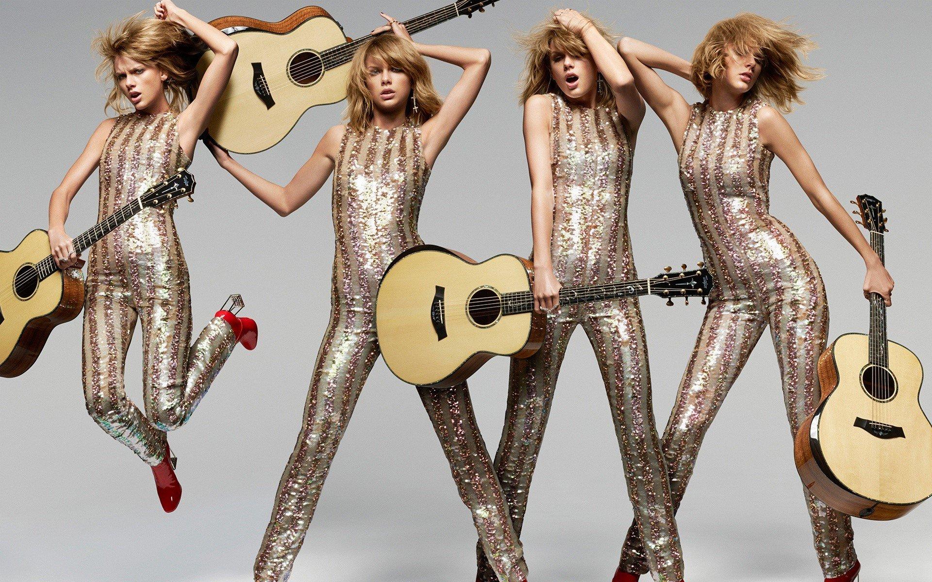 Fondos de pantalla Taylor Swift y su guitarra