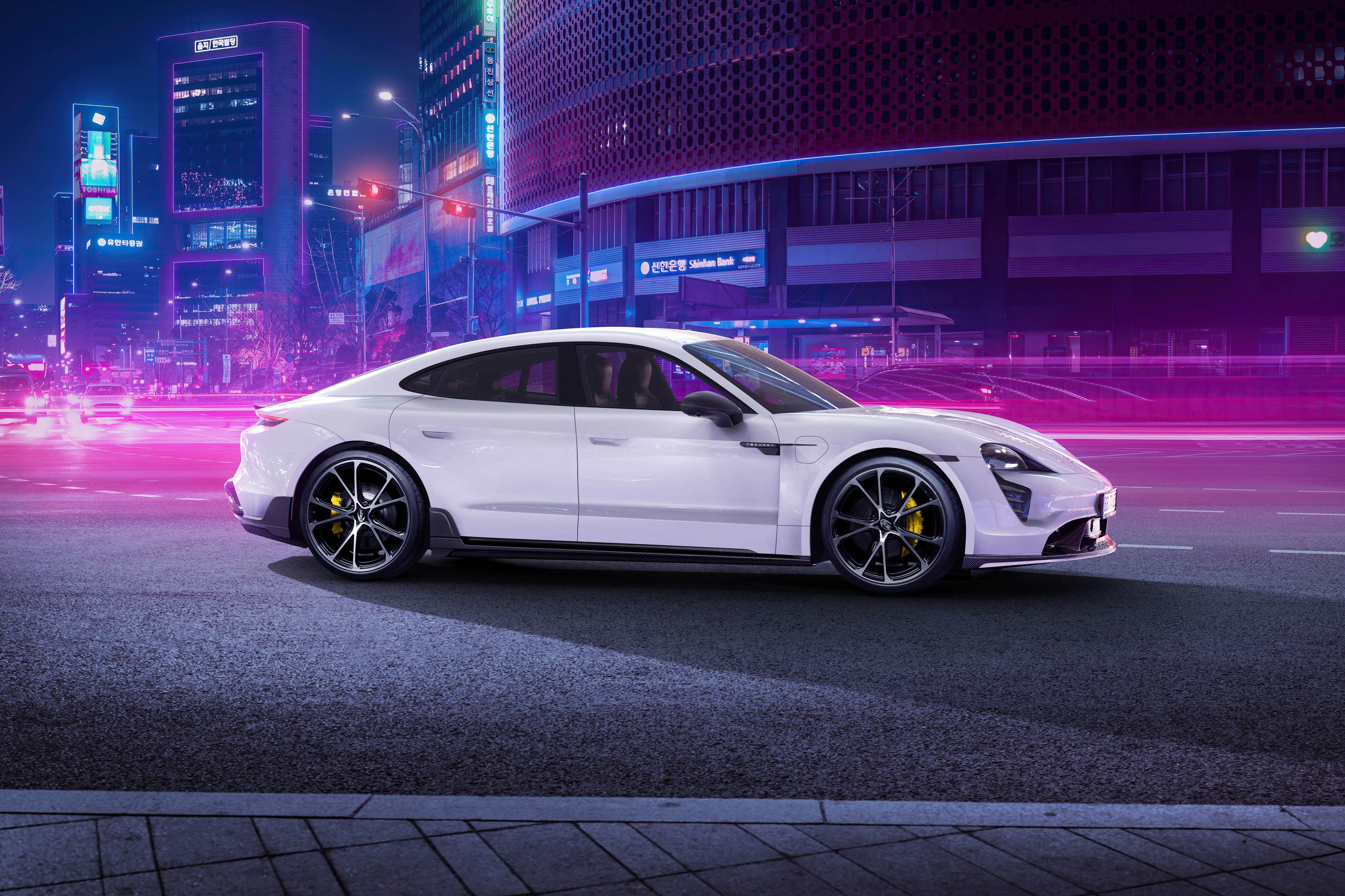 Fondos de pantalla Techart Porsche Taycan Aerokit 2021
