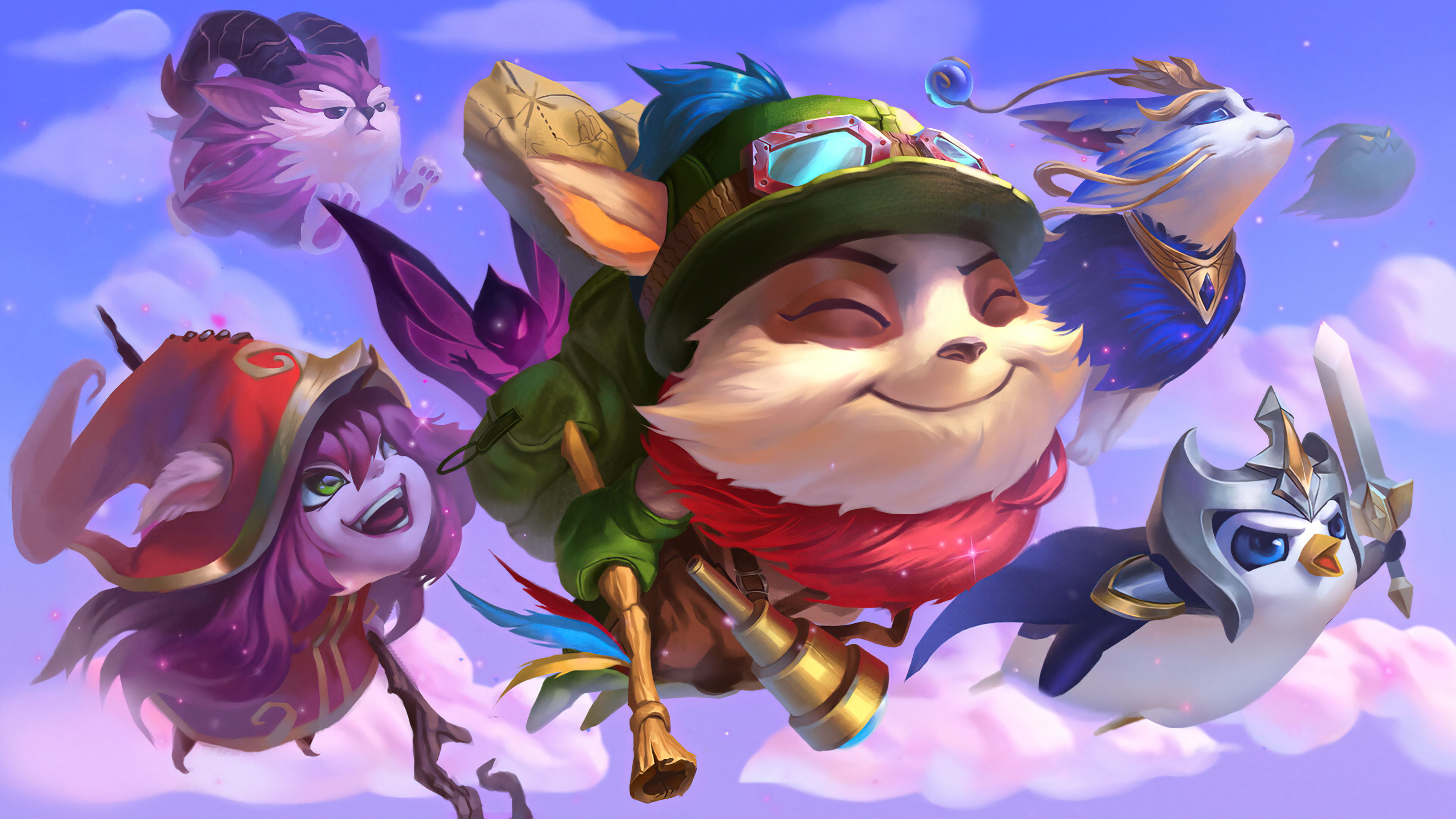 Wallpaper Teemo and Lulu from League of Legends