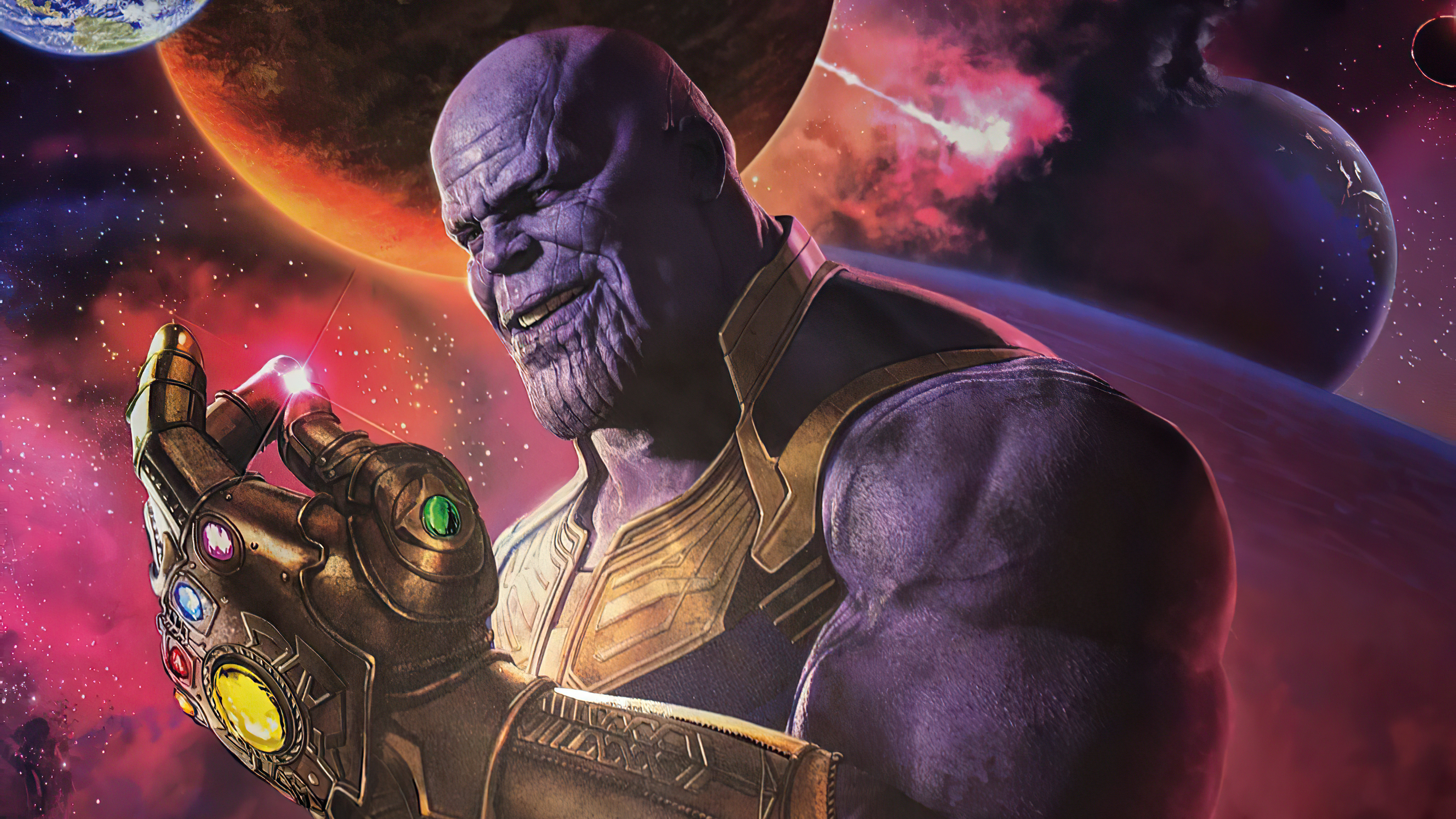 Wallpaper Thanos snaping fingers