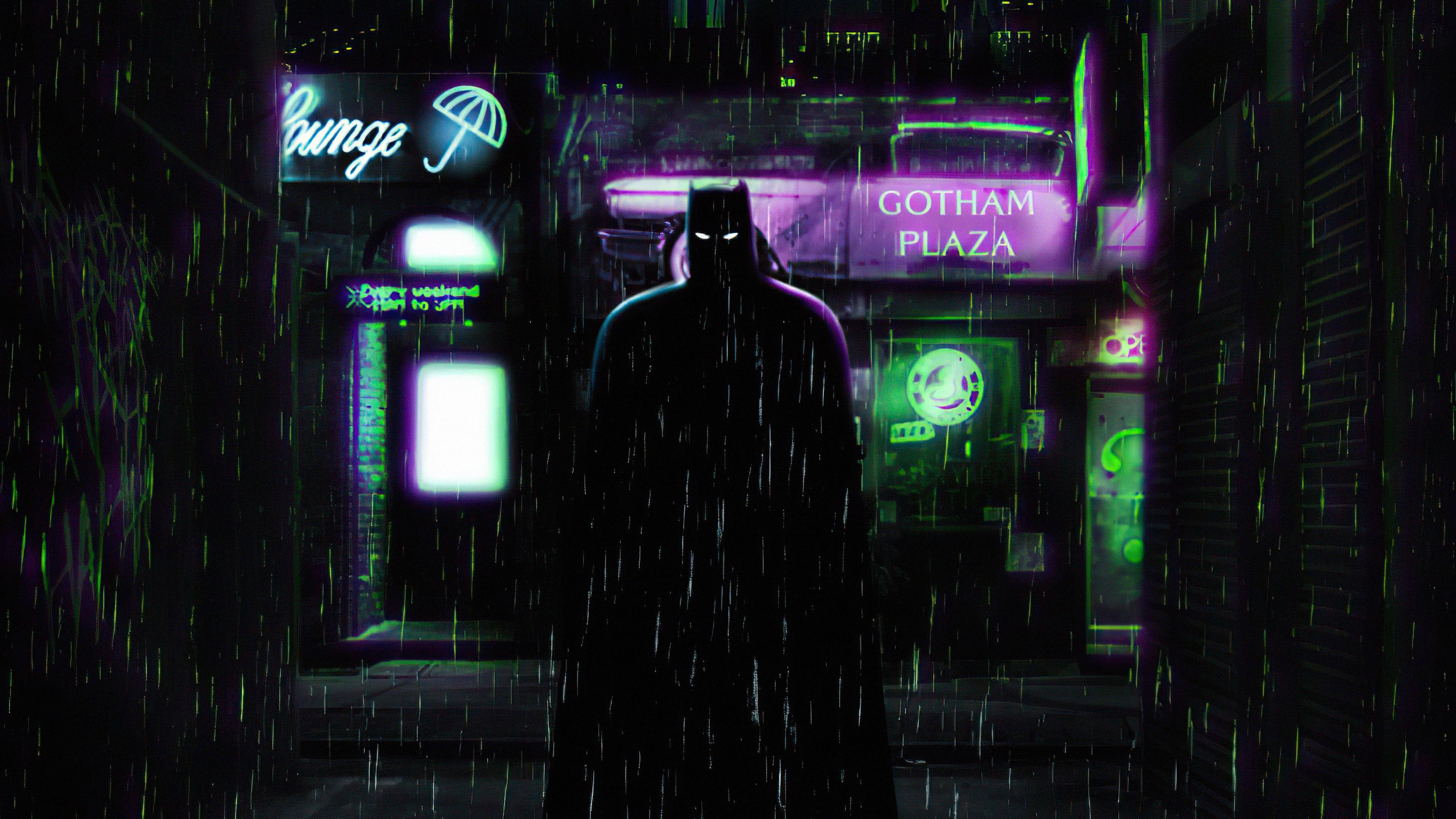 Wallpaper The Batman alleyway