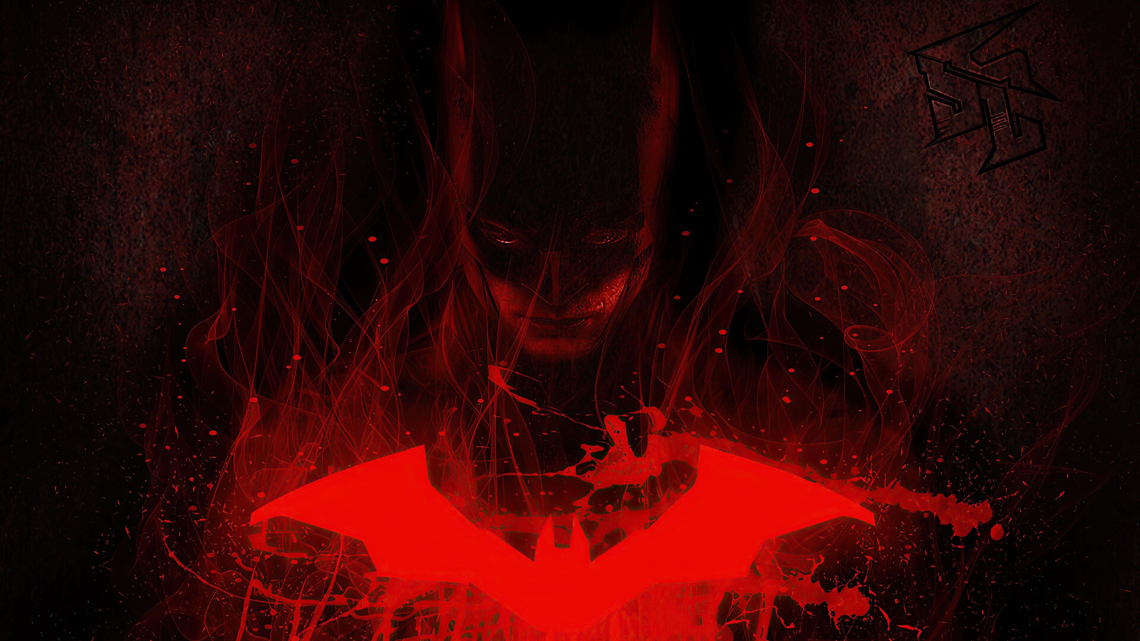 Wallpaper The Batman in red