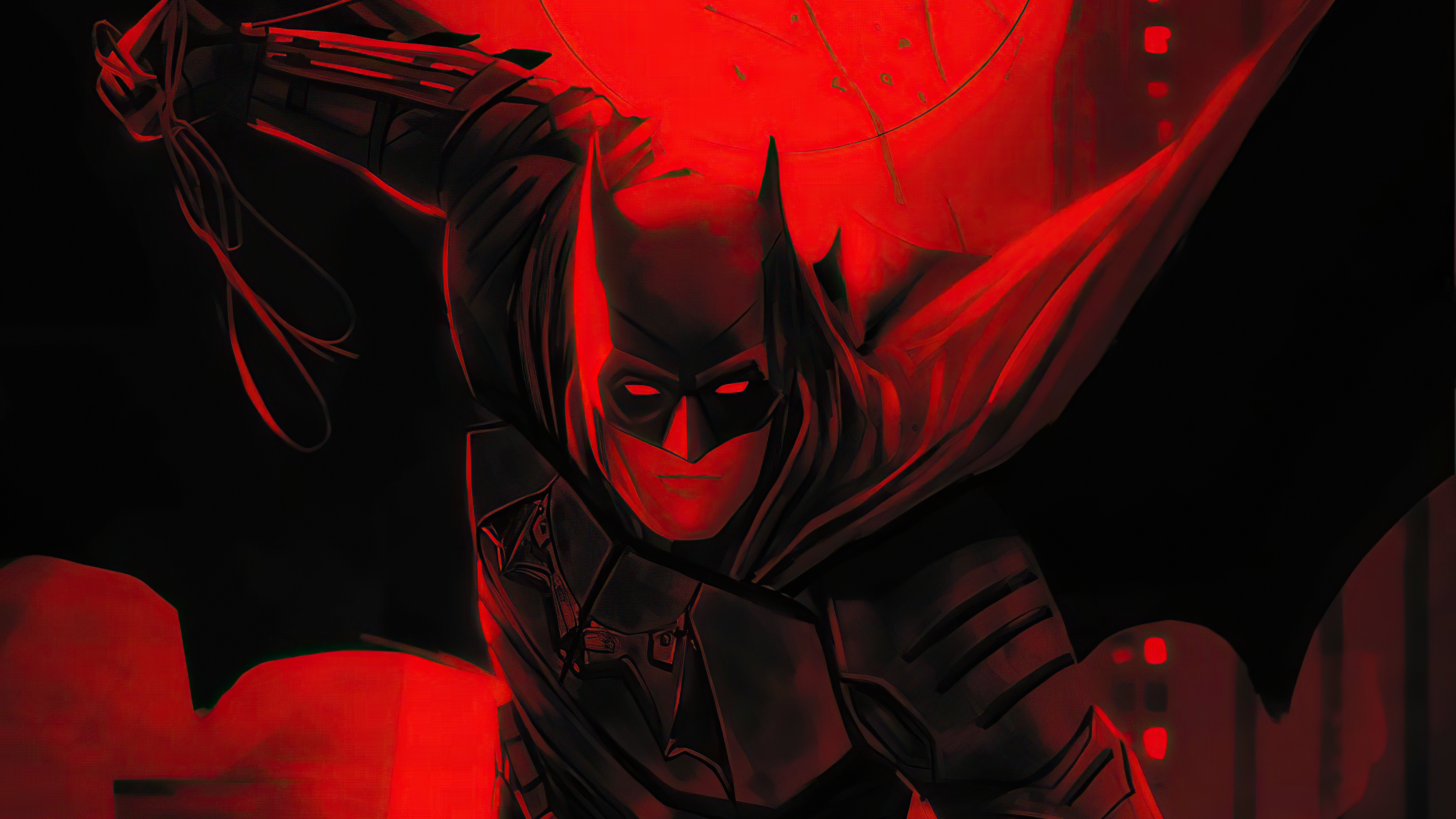 Fondos de pantalla The Batman Flama roja