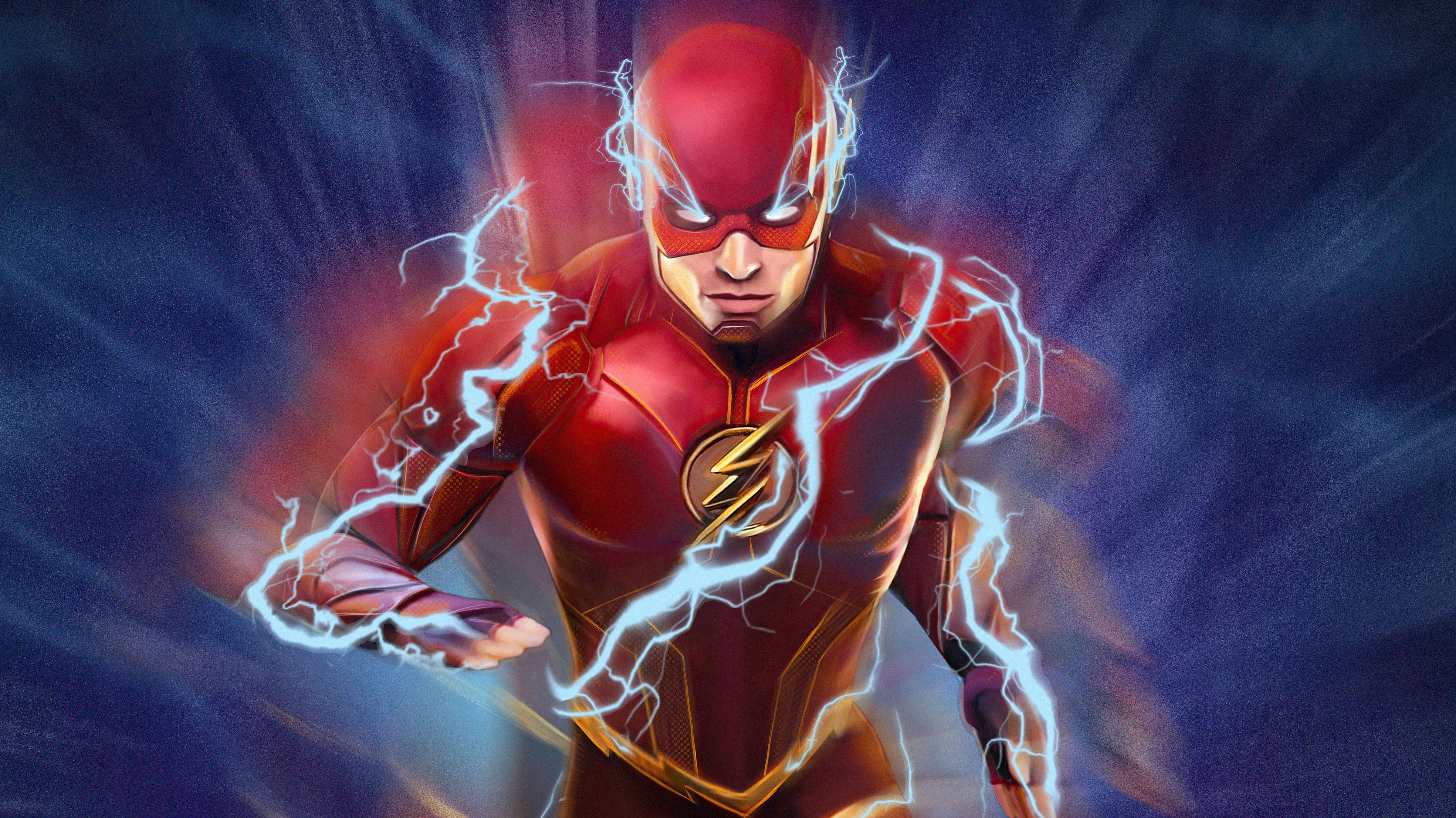 Fondos de pantalla The Flash con rayo azul