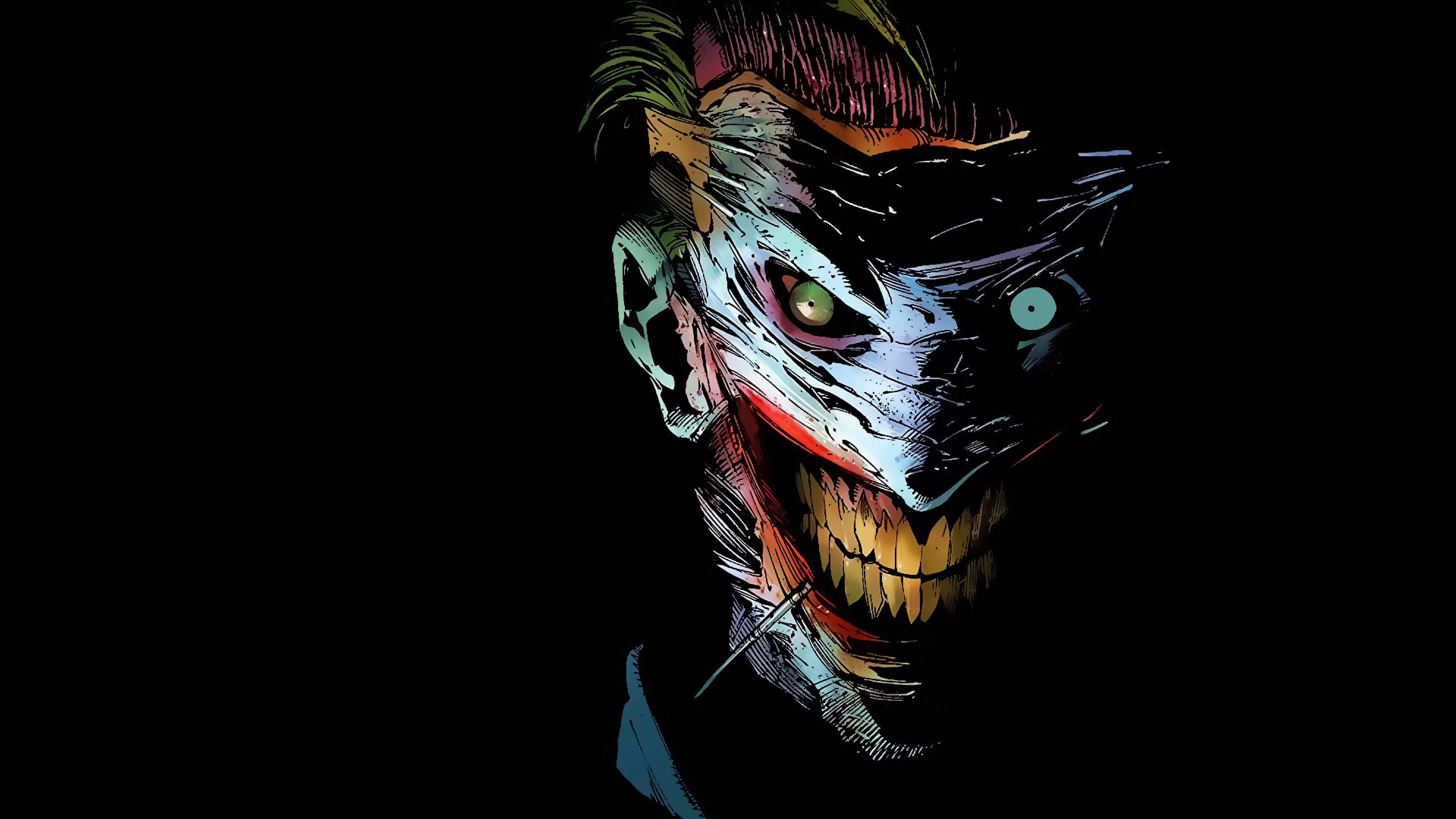 Wallpaper The Jokers Smile