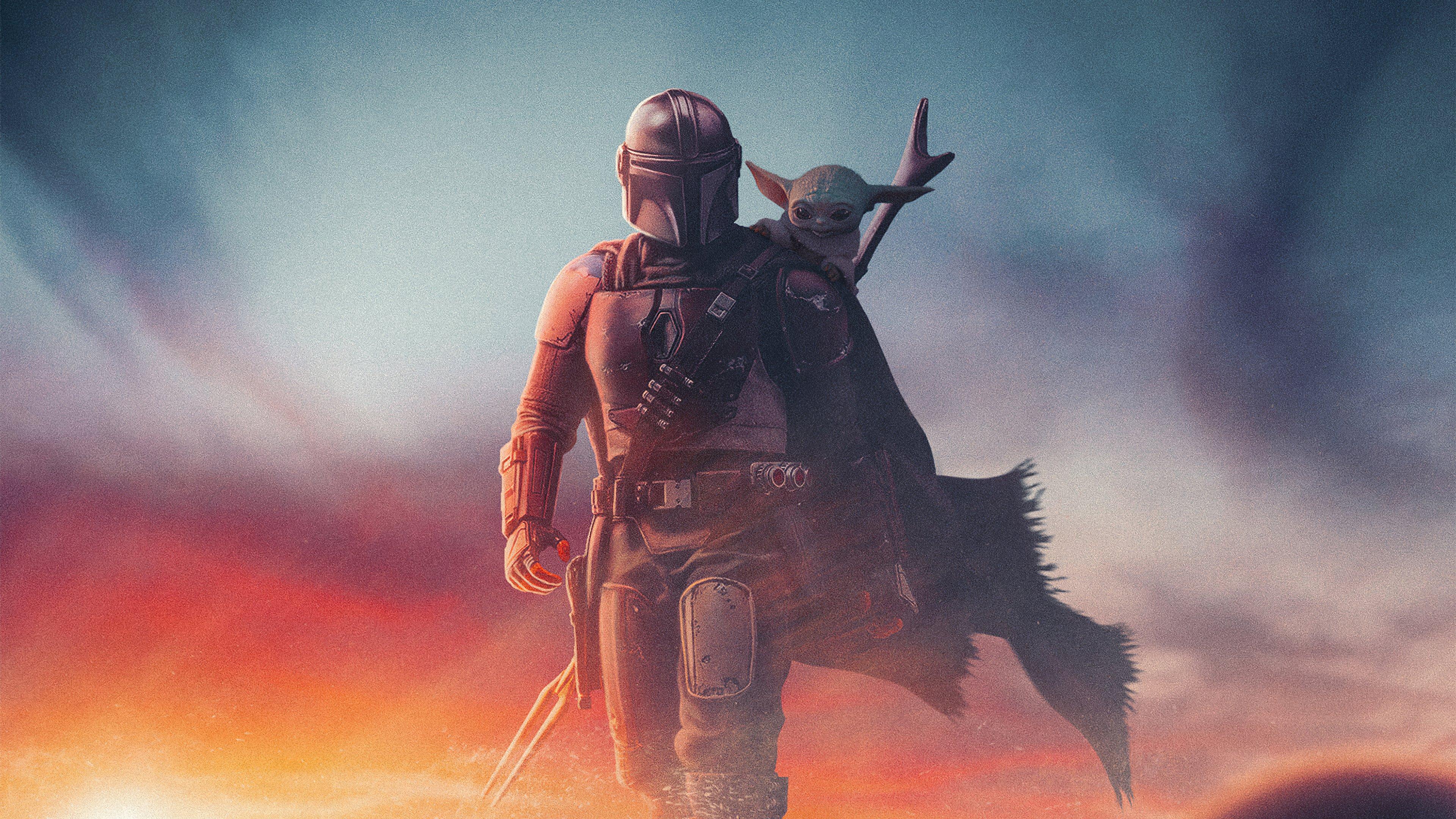 Fondos de pantalla The Mandalorian Yoda Artwork
