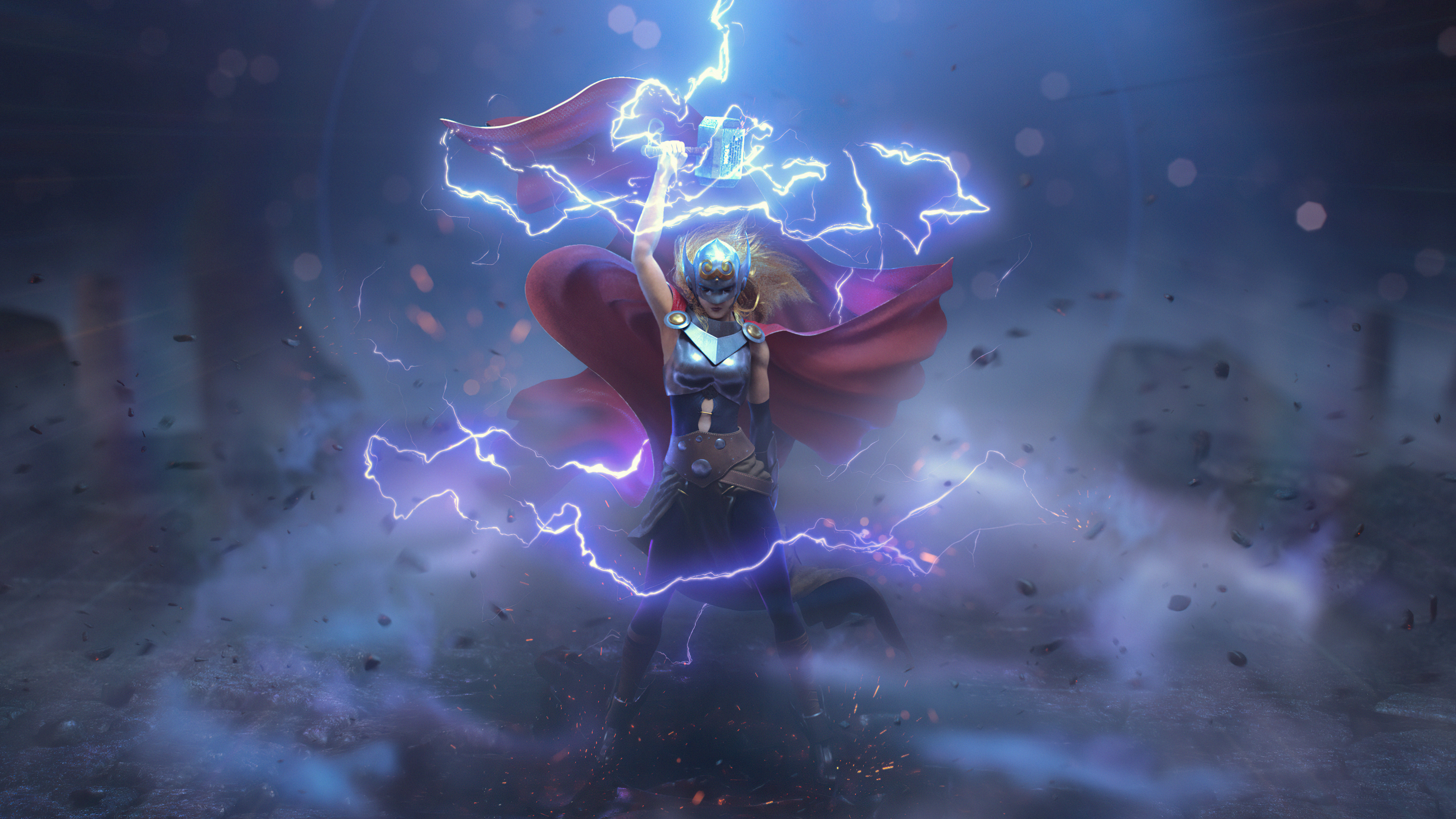 Wallpaper Thor in the middle of thunder