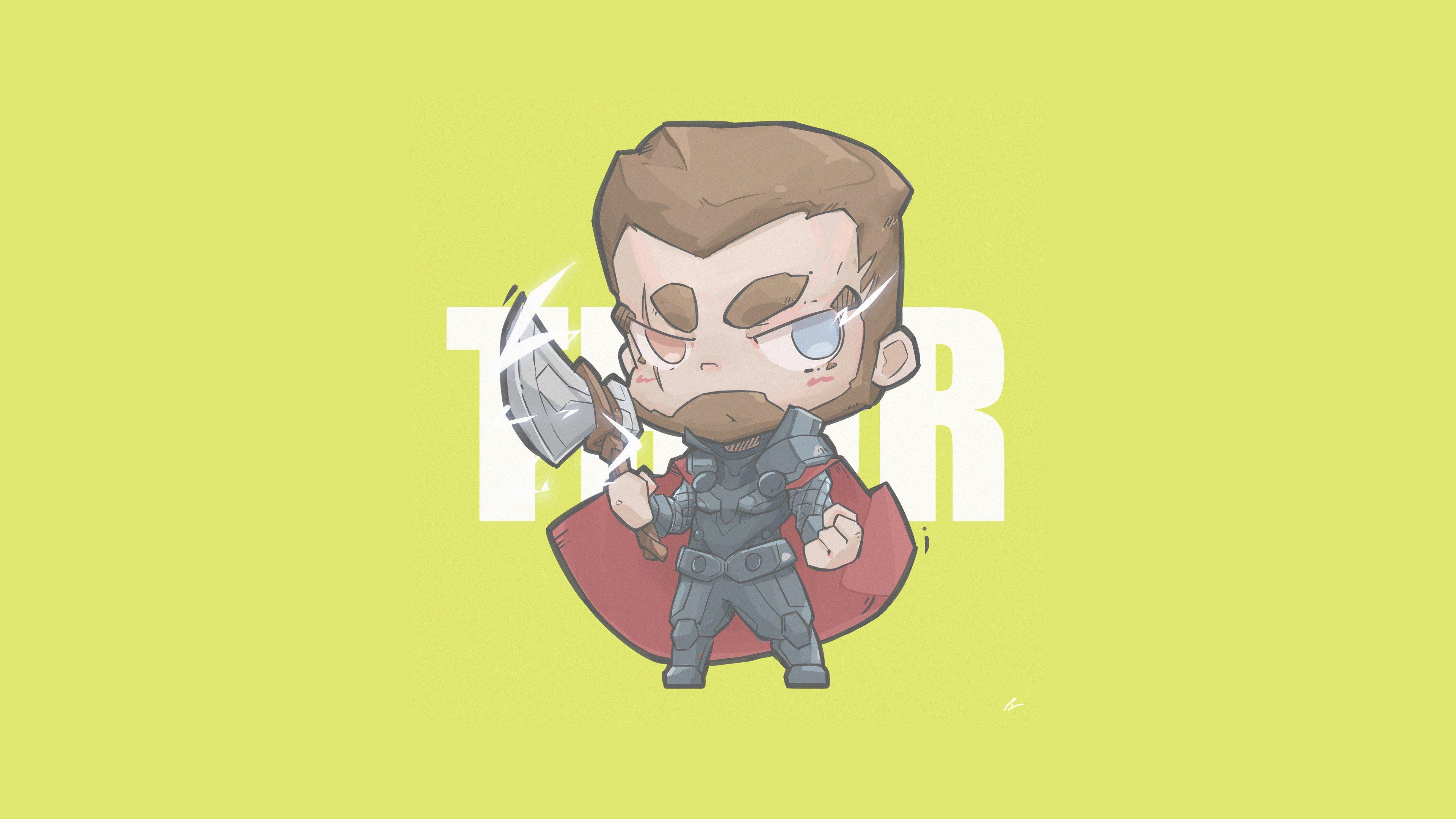 Fondos de pantalla Thor Minimalista