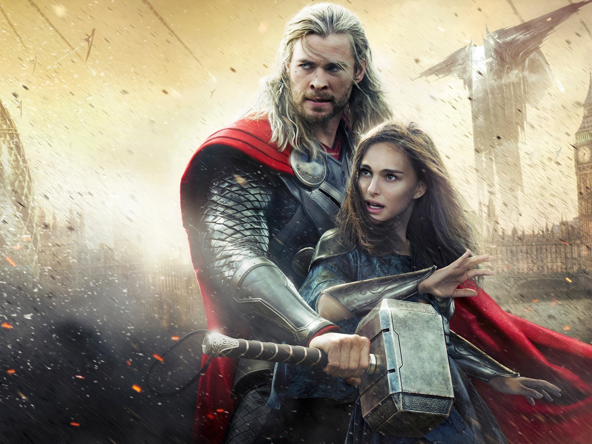 Wallpaper Thor and Jane