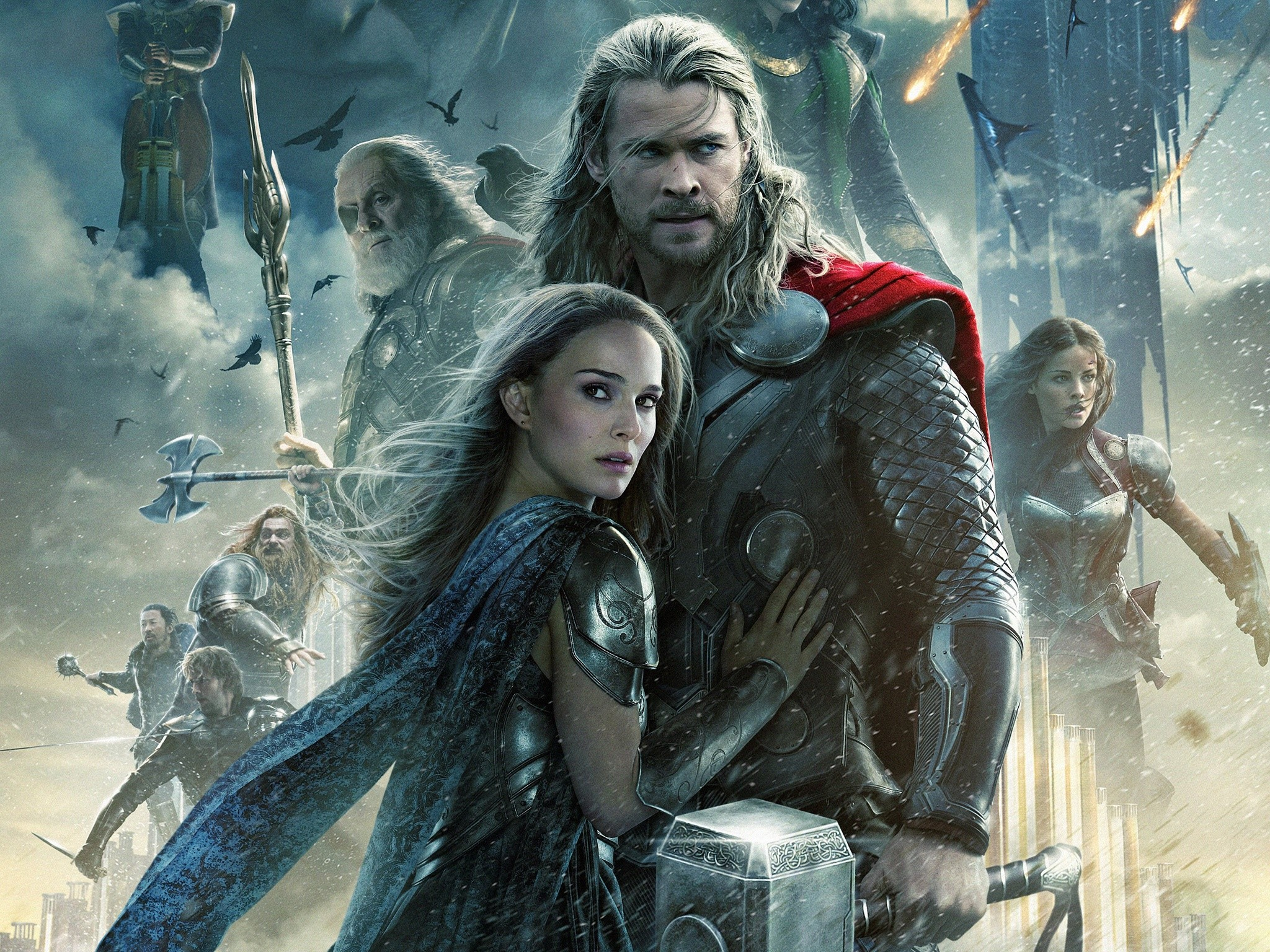 Wallpaper Thor y Jane en El mundo oscuro Images