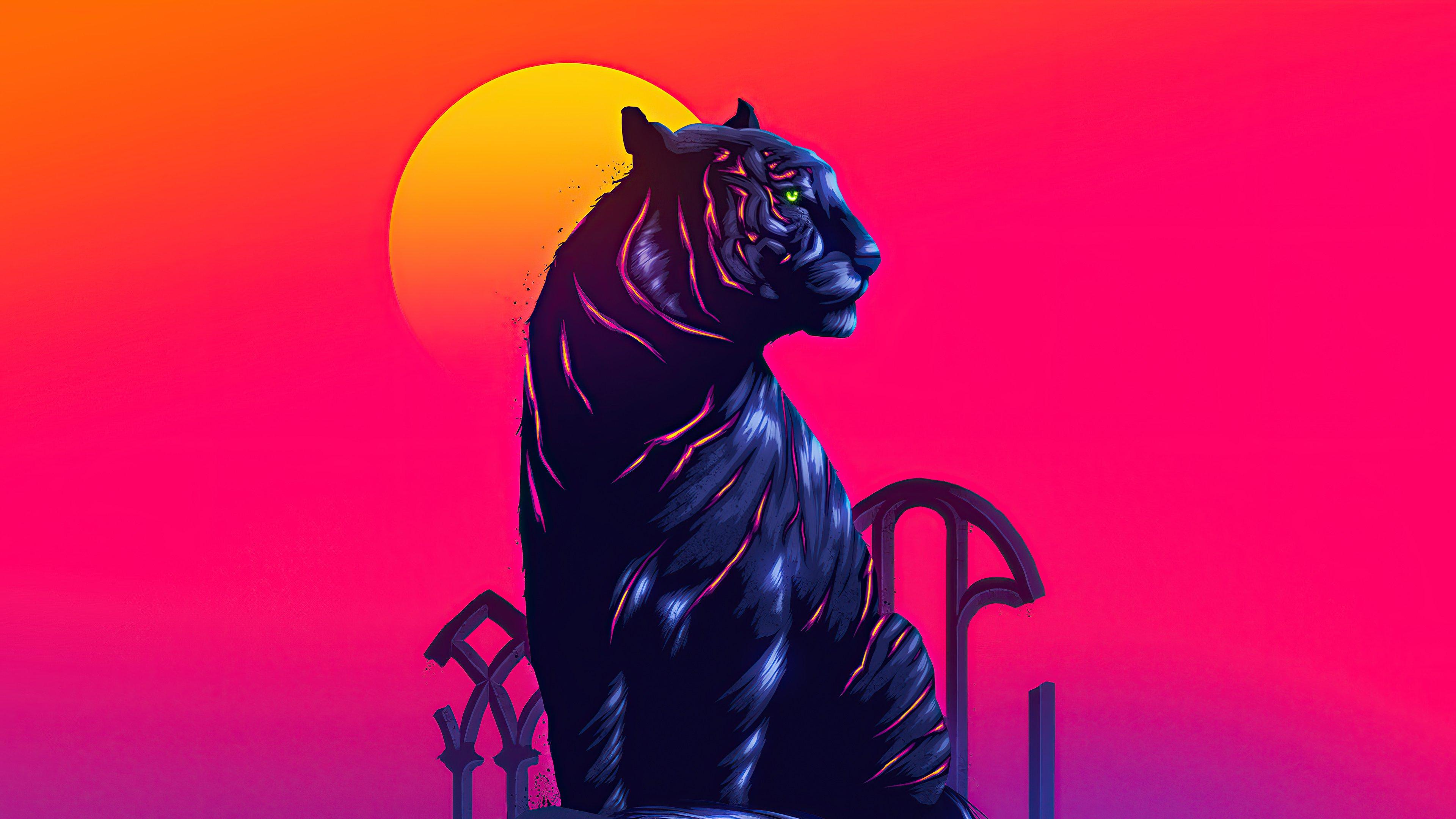 Fondos de pantalla Tigre de neón