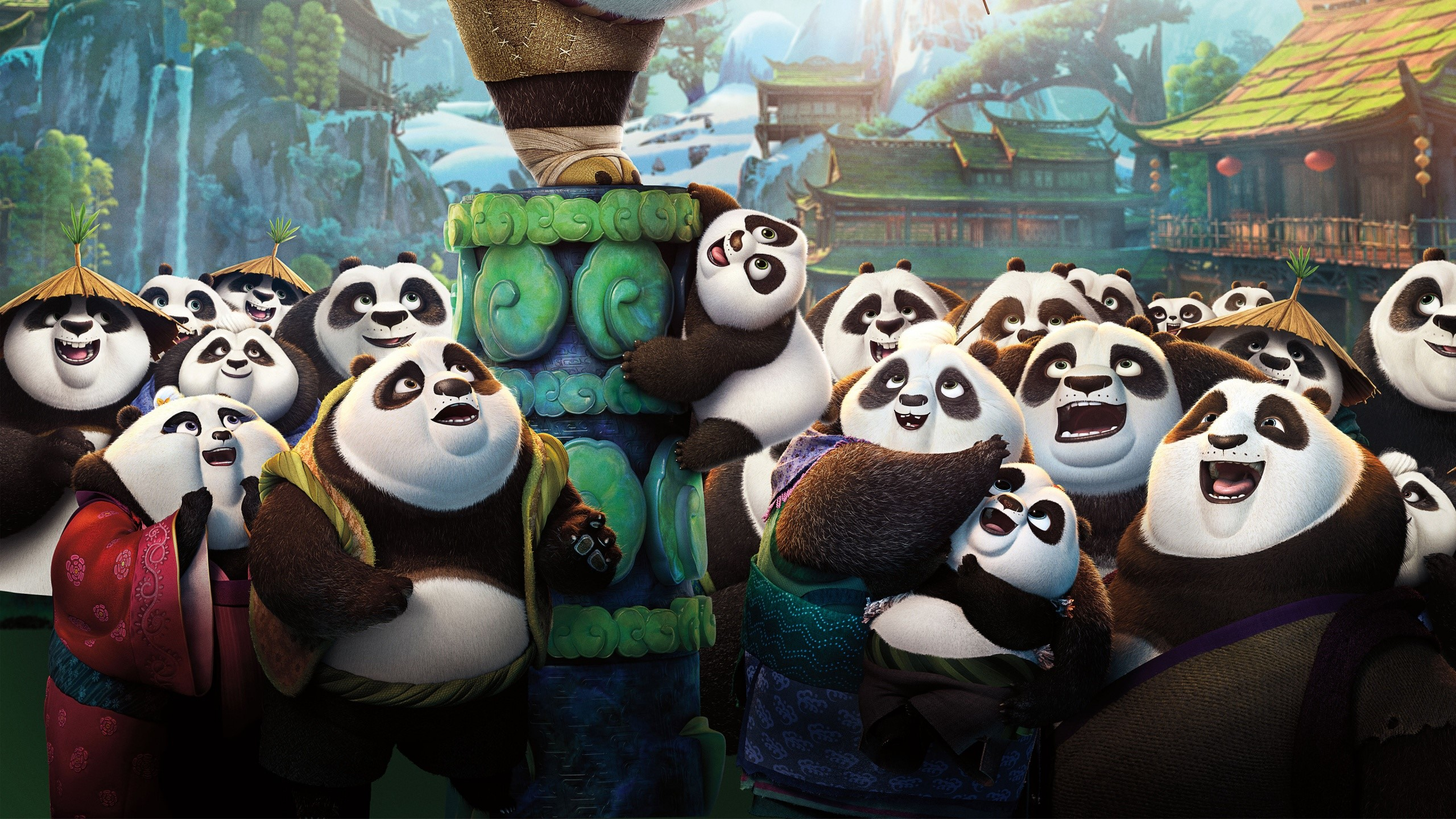 Wallpaper All pandas of Kung fu Panda 3