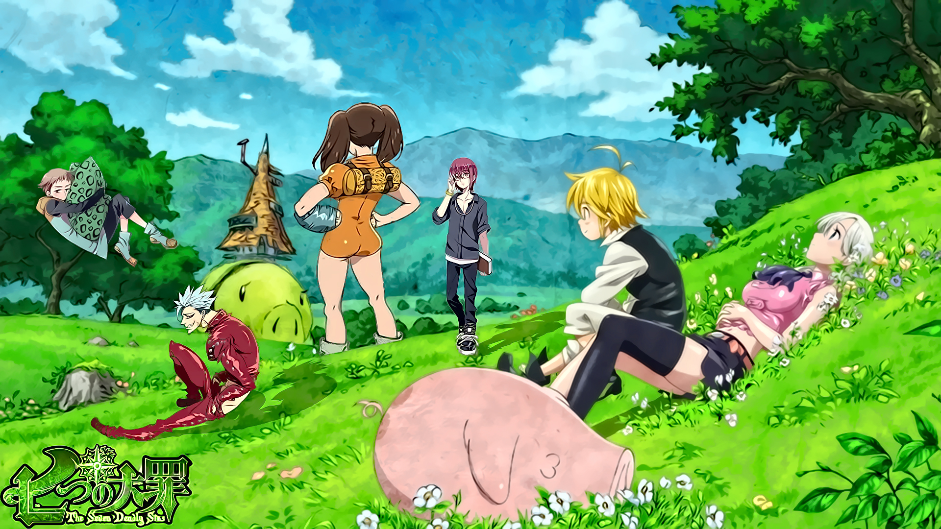 Fondos de pantalla Anime Todos los personajes de Los siete pecados capitales