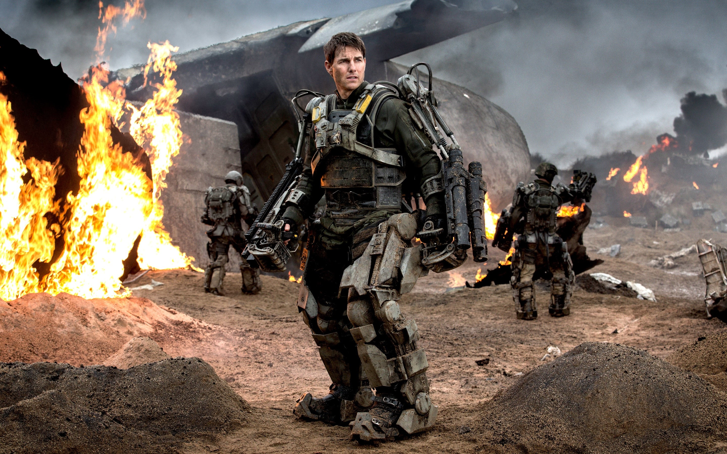 Wallpaper Tom Cruise in On the Edge of Tomorrow