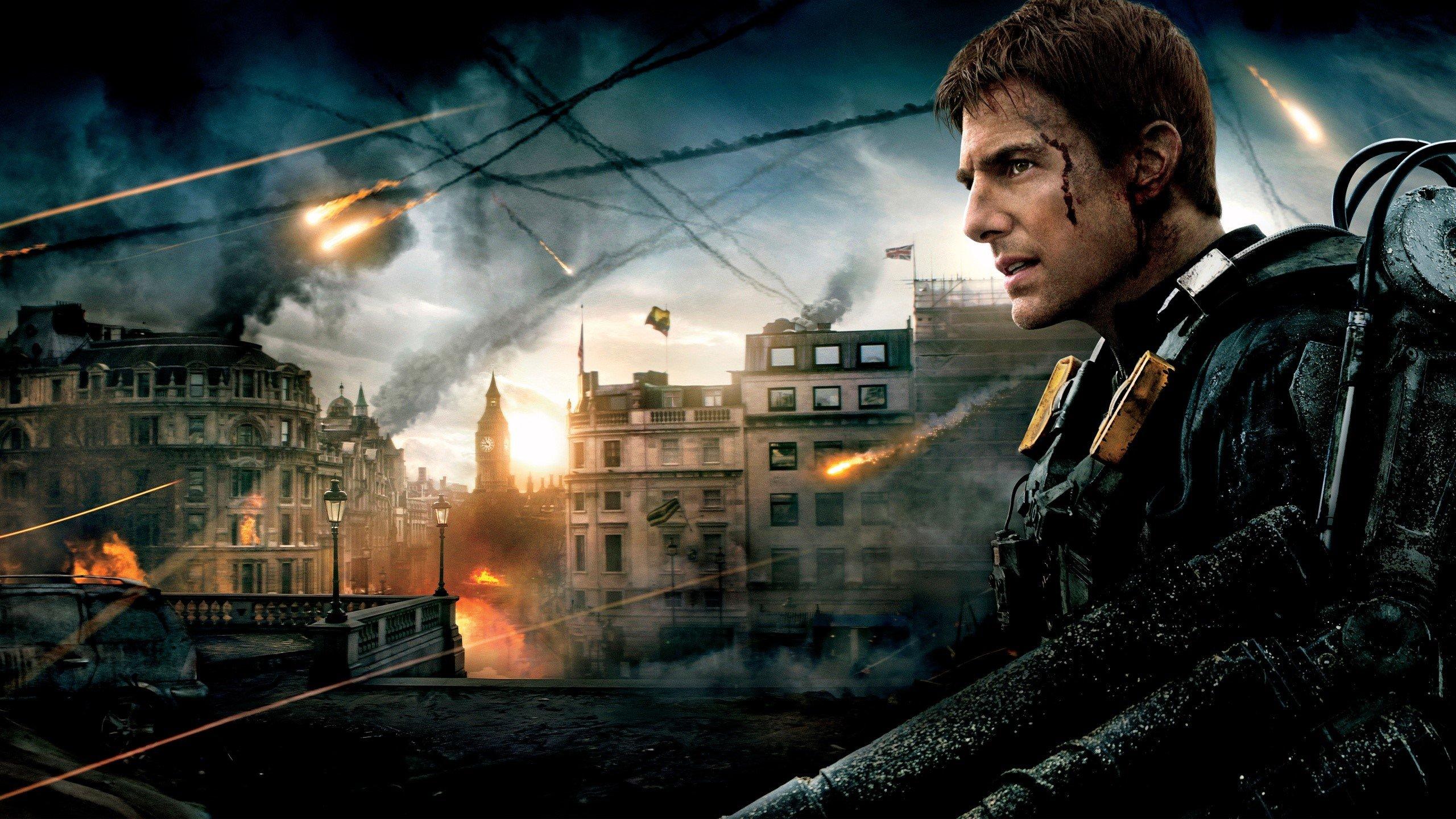 Fondos de pantalla Tom Cruise en la película Al filo del mañana