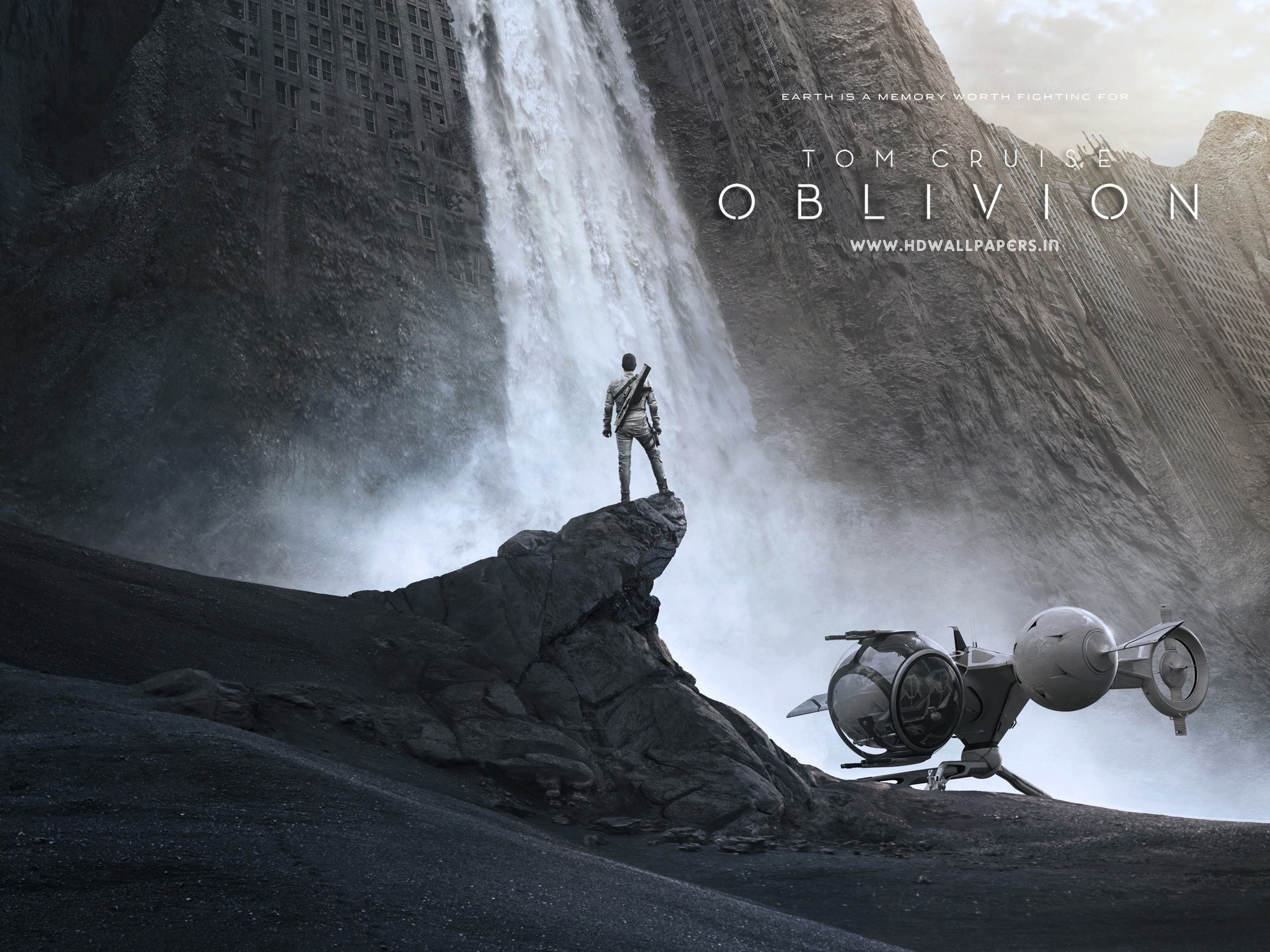 Wallpaper Tom Cruise in the movie Oblivion