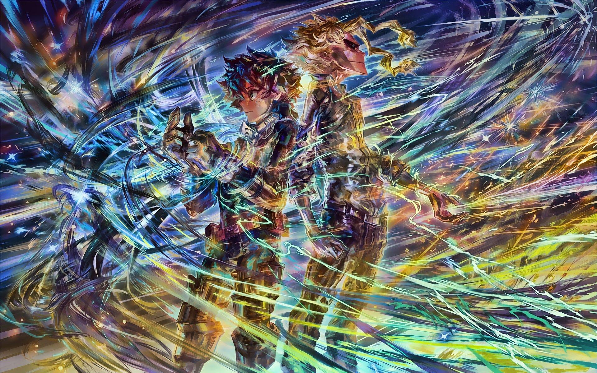 Fondos de pantalla Anime Toshinori Yagi y Izuku Midoriya de My hero Academia