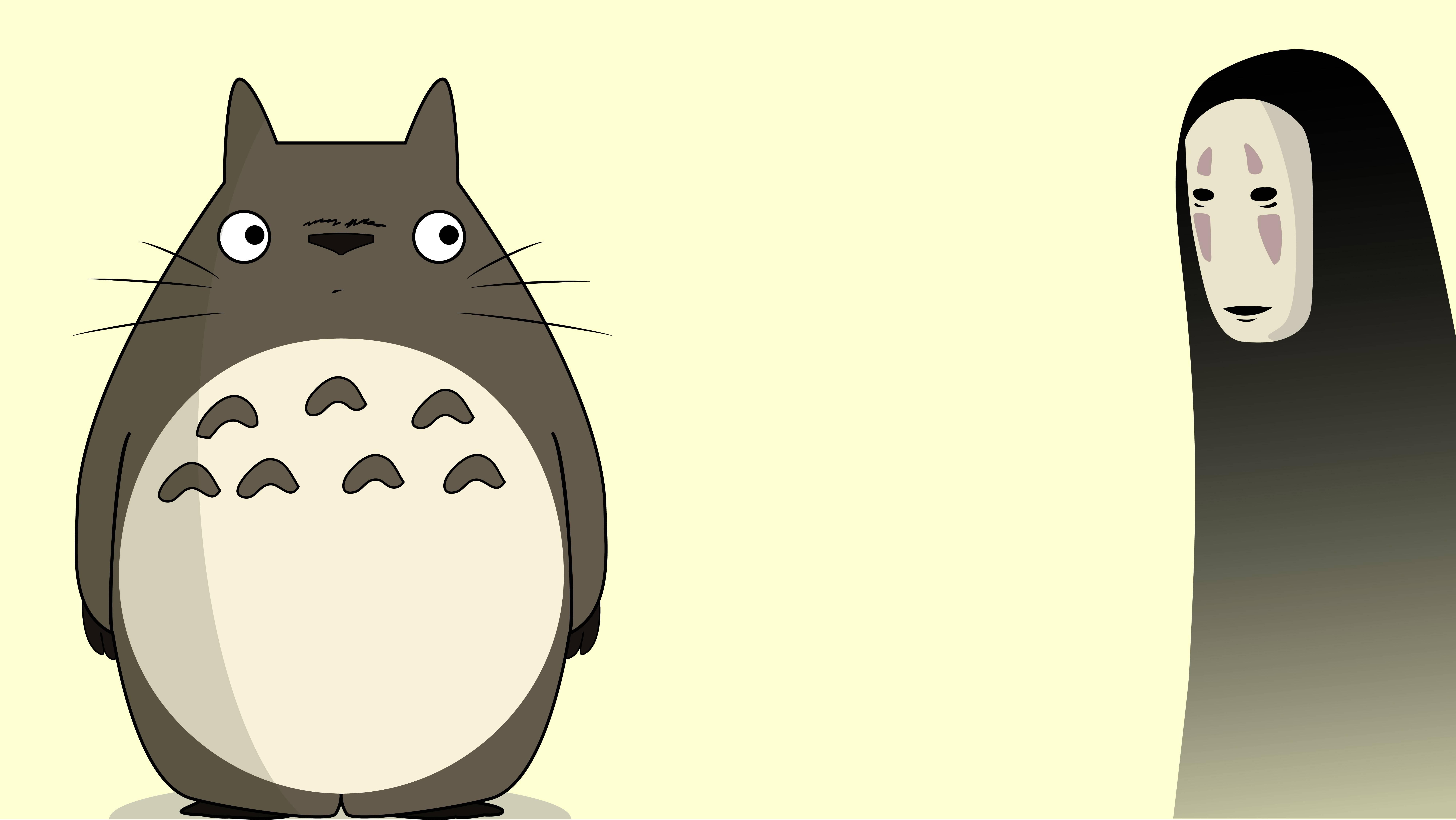 Fondos de pantalla Anime Totoro y Kaonashi (No-Face) de El viaje de Chihiro
