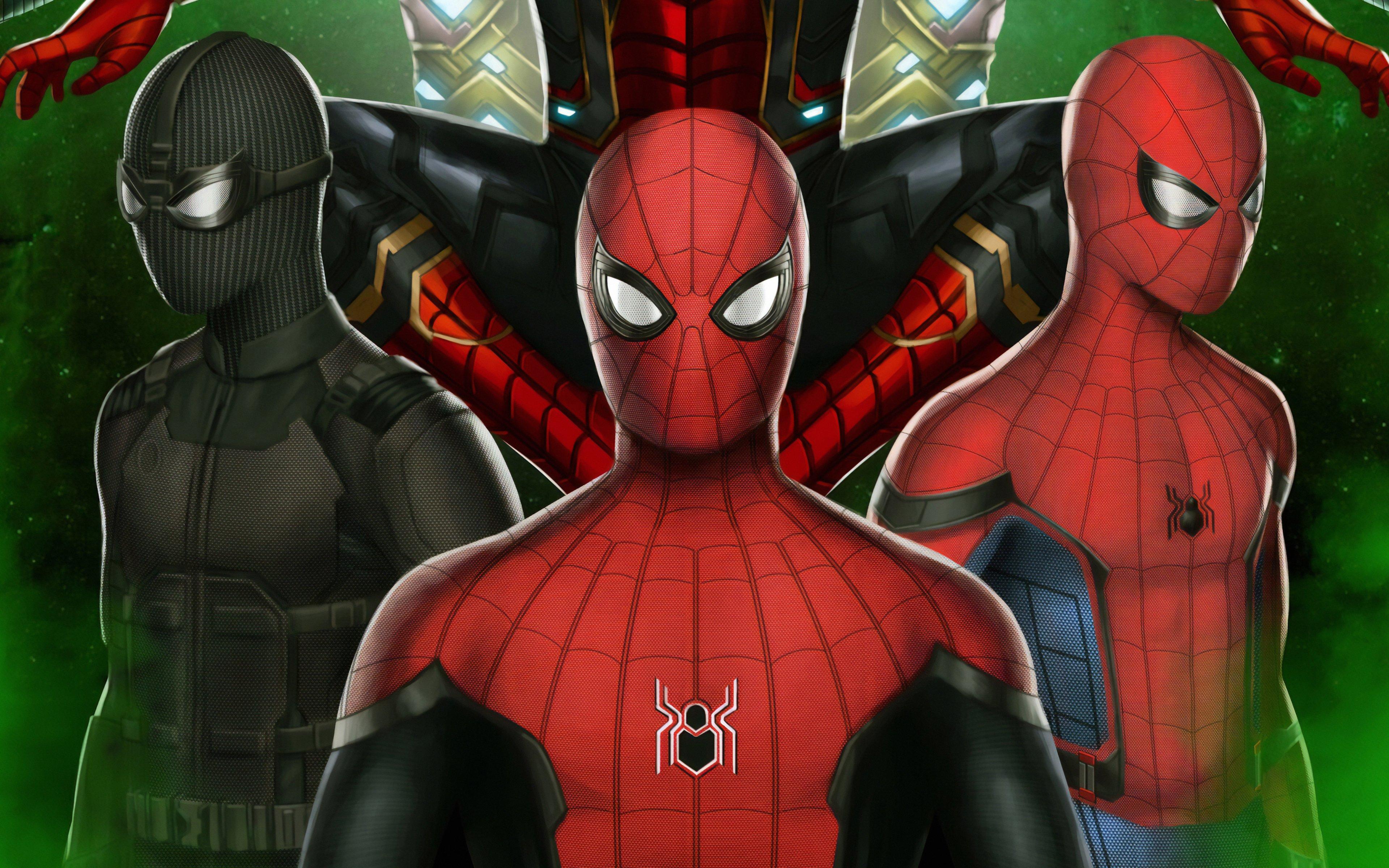 Fondos de pantalla Trajes de Spiderman Lejos de casa