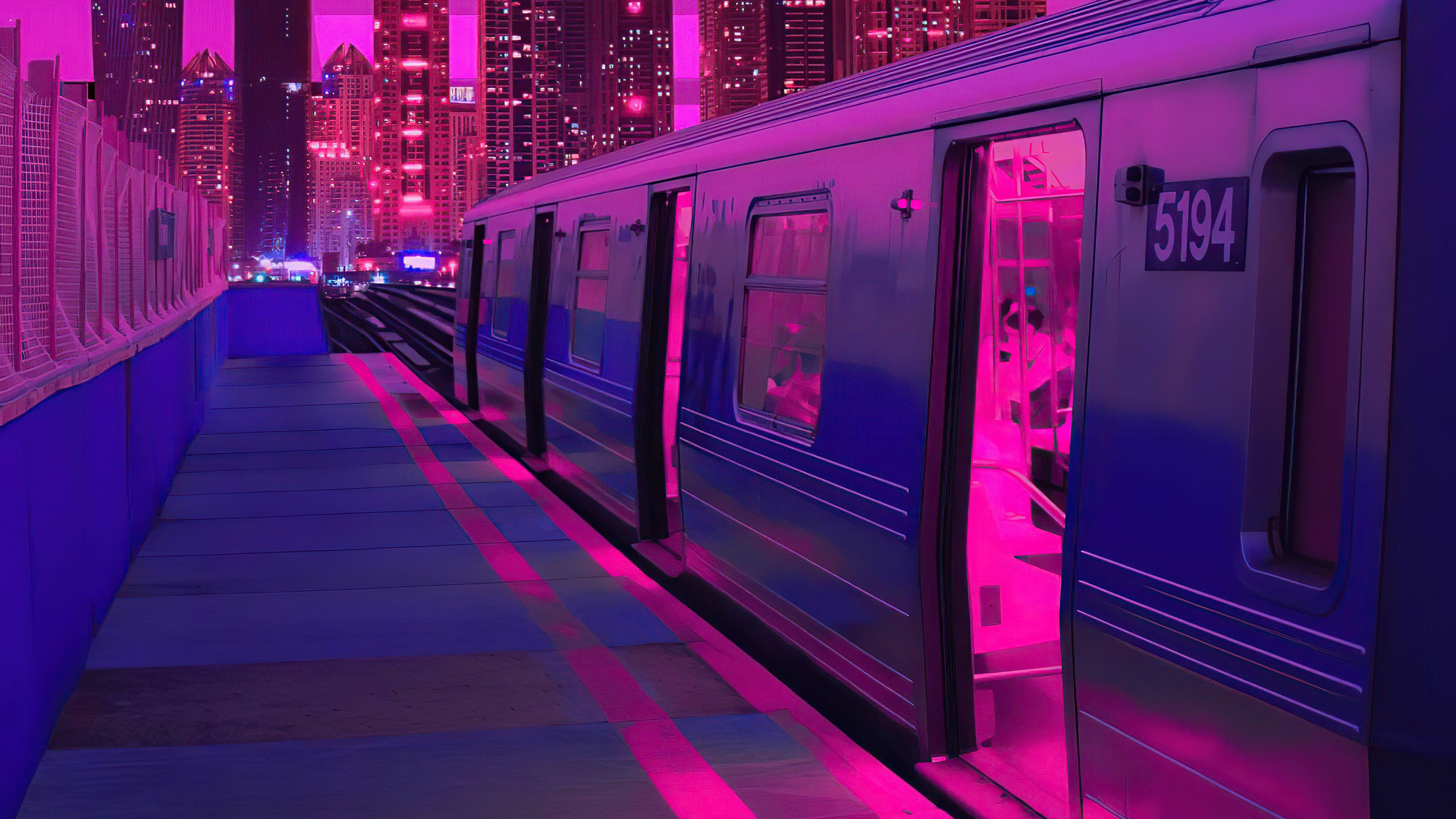 Fondos de pantalla Tren en una ciudad