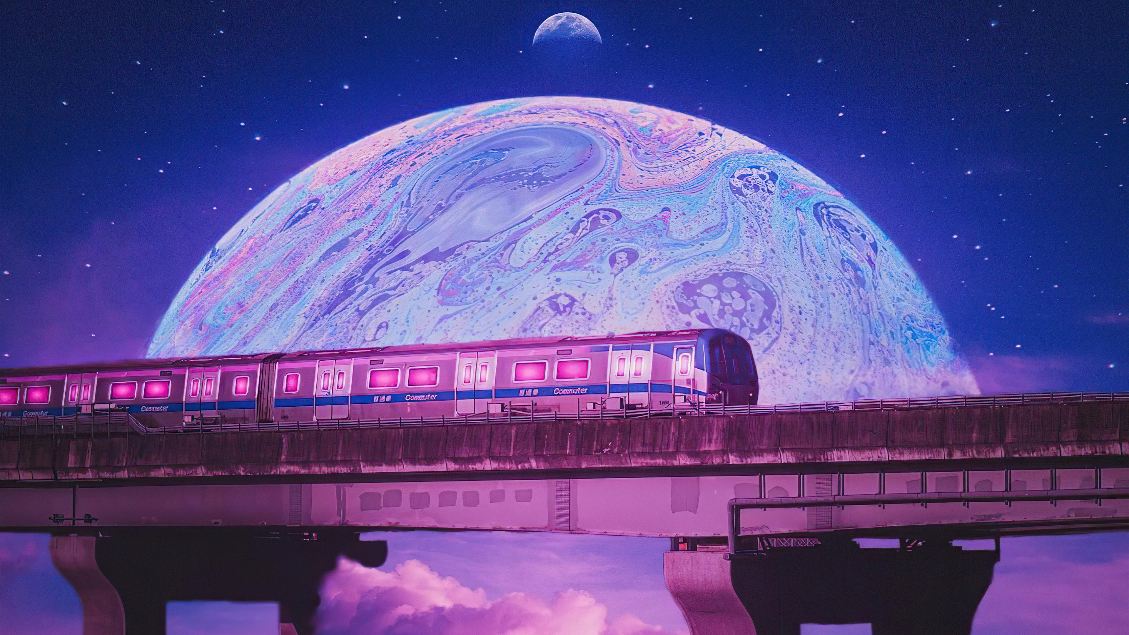 Fondos de pantalla Tren fuera de este planeta