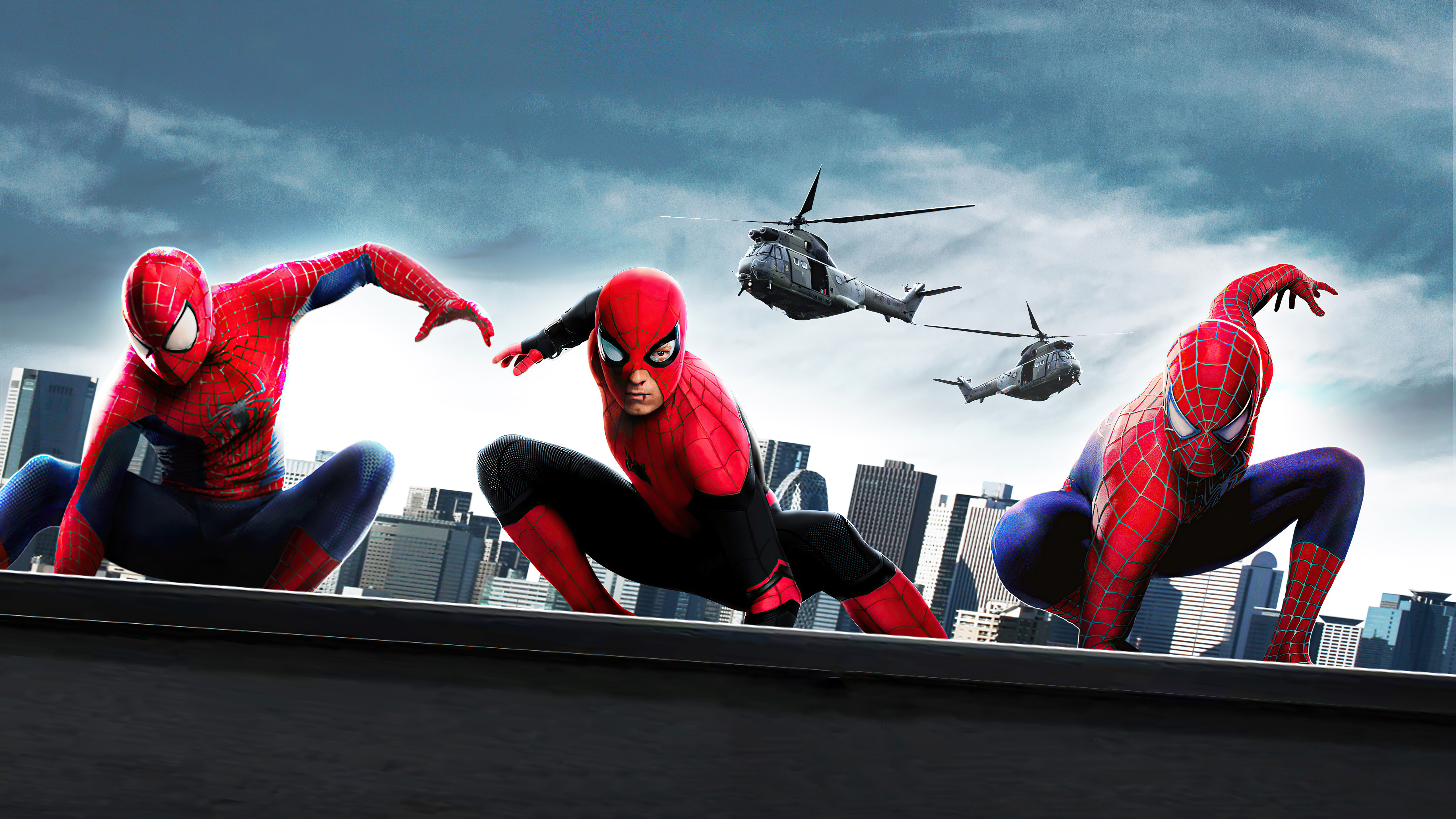Wallpaper Three spiderman