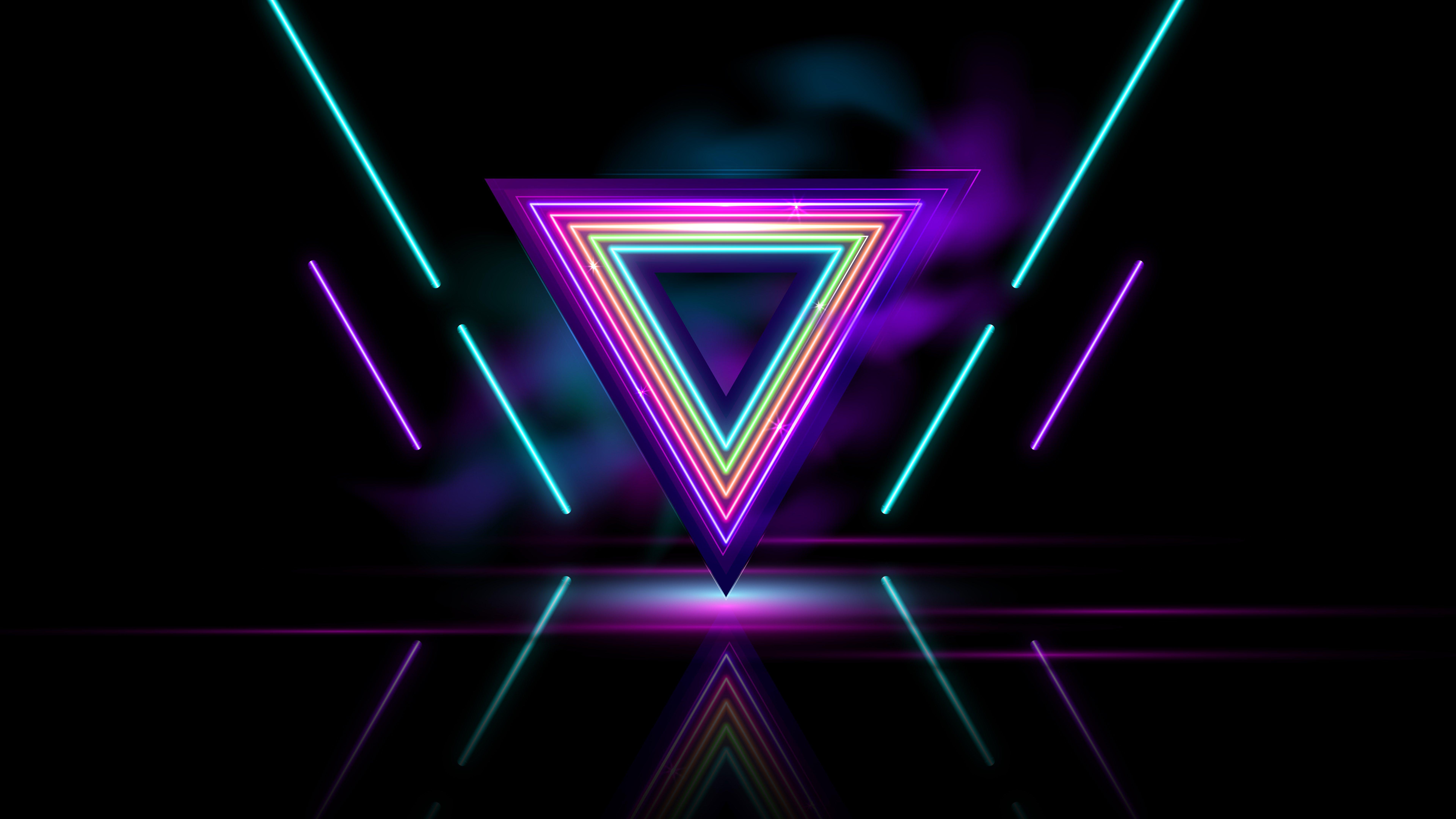Fondos de pantalla Triangulo Neon Abstracto