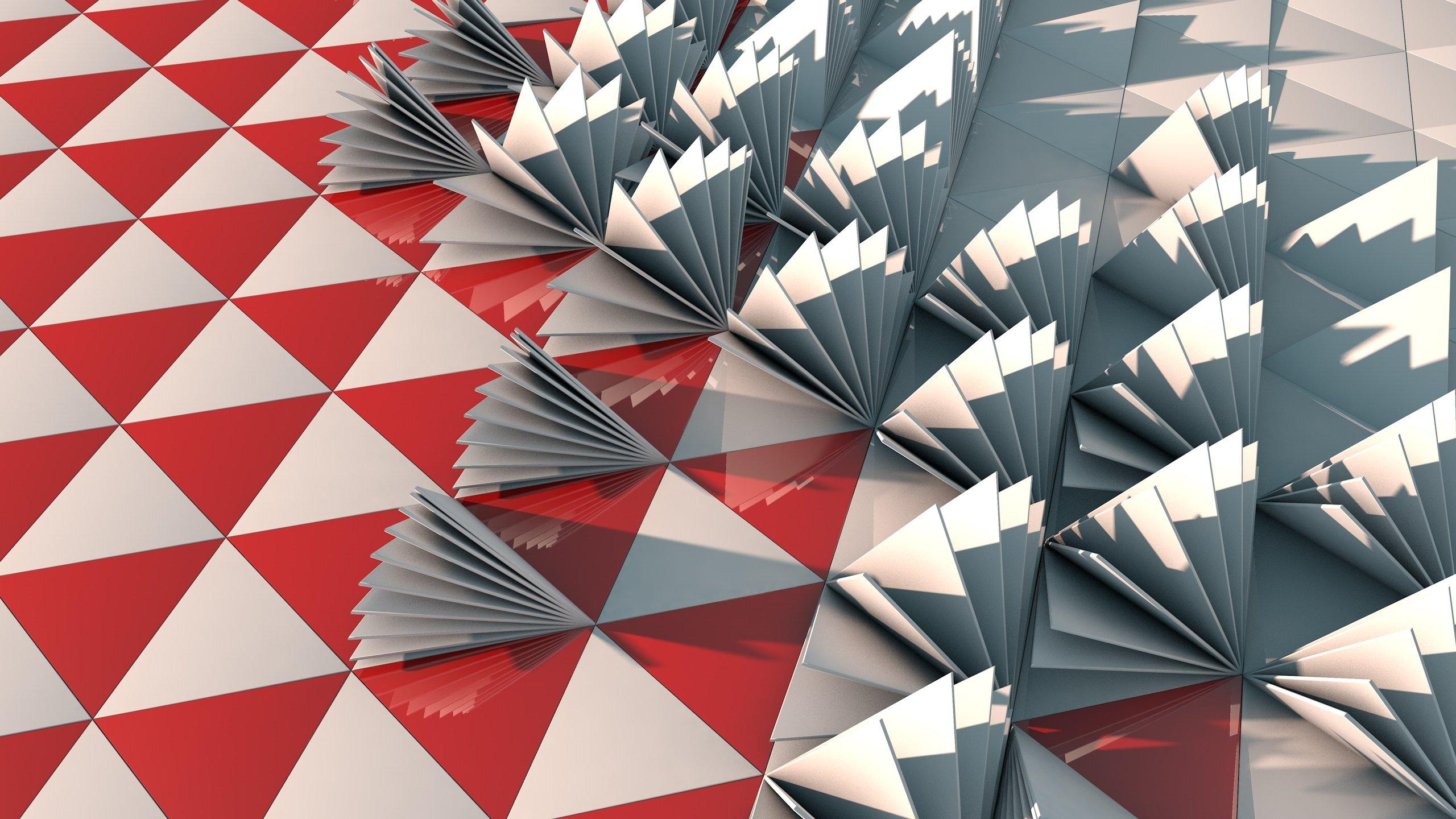 Fondos de pantalla Triangulos en 3D Abstracto