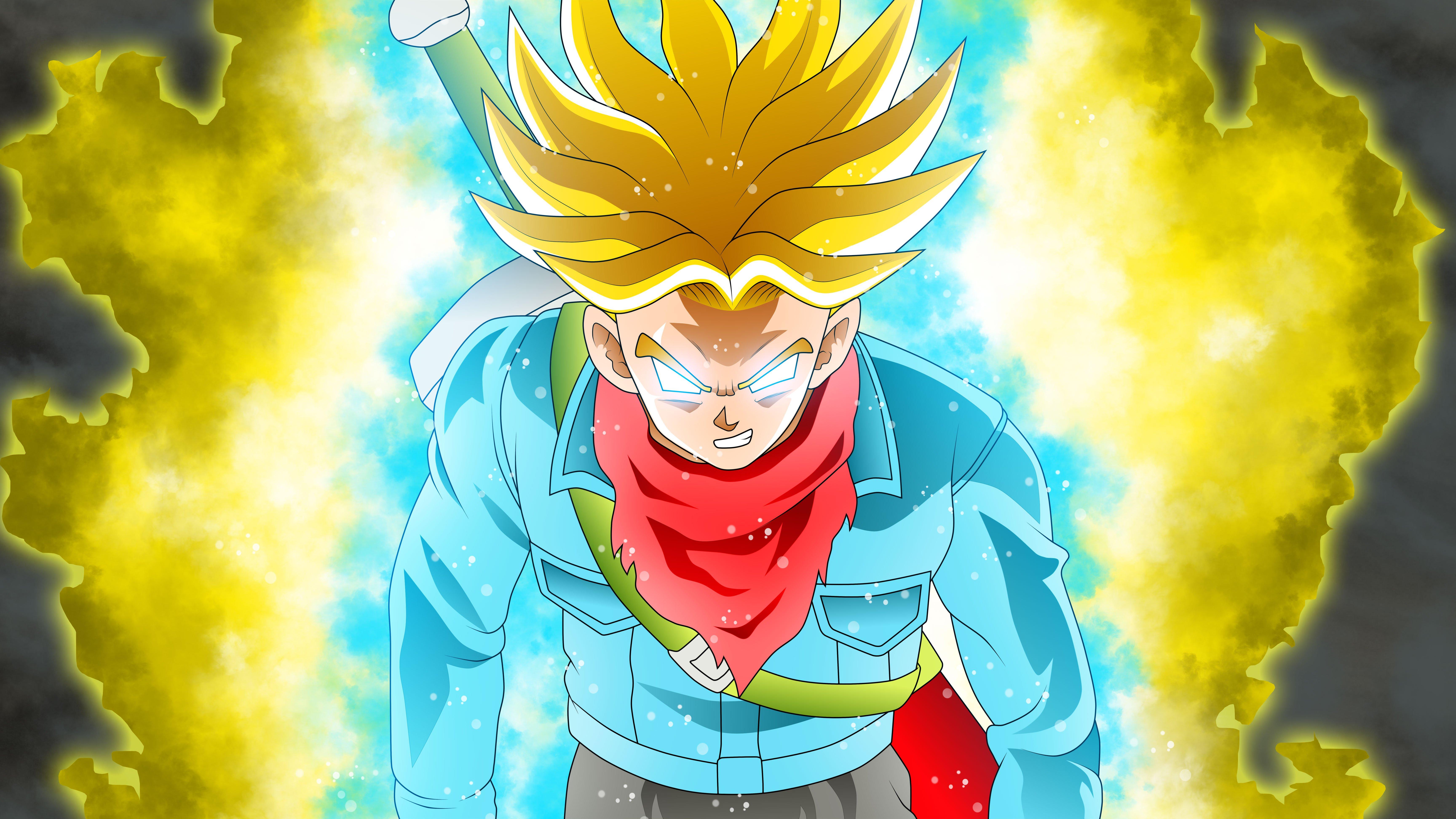 Fondos de pantalla Anime Trunks Super Saiyan Rage en Dragon Ball Super