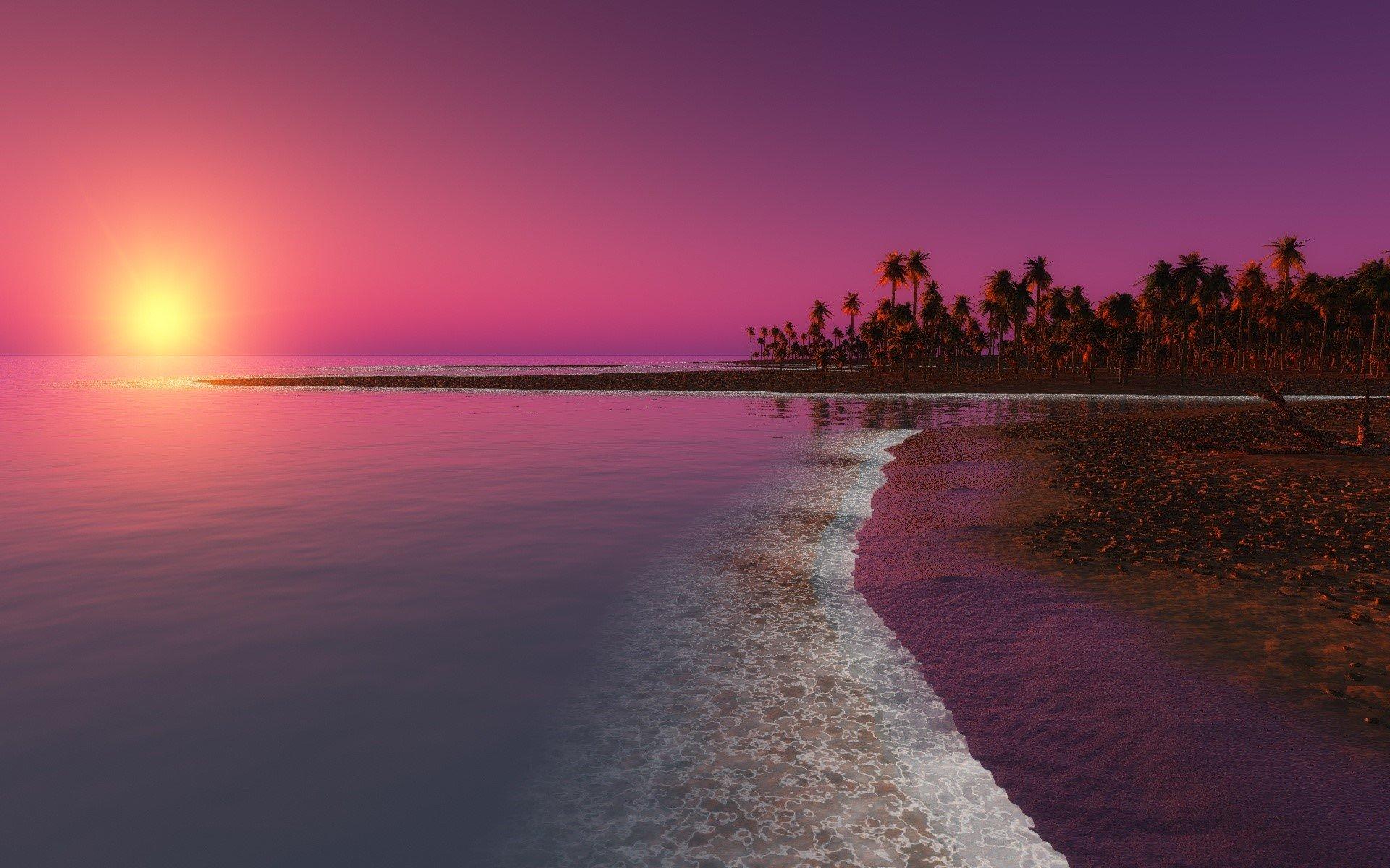 Wallpaper A digital sunset