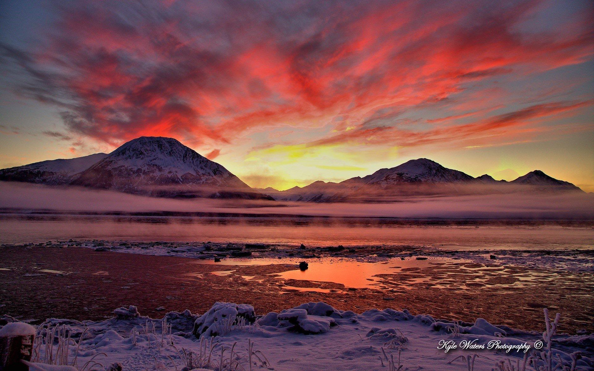 Fondos de pantalla Un atardecer en Alaska
